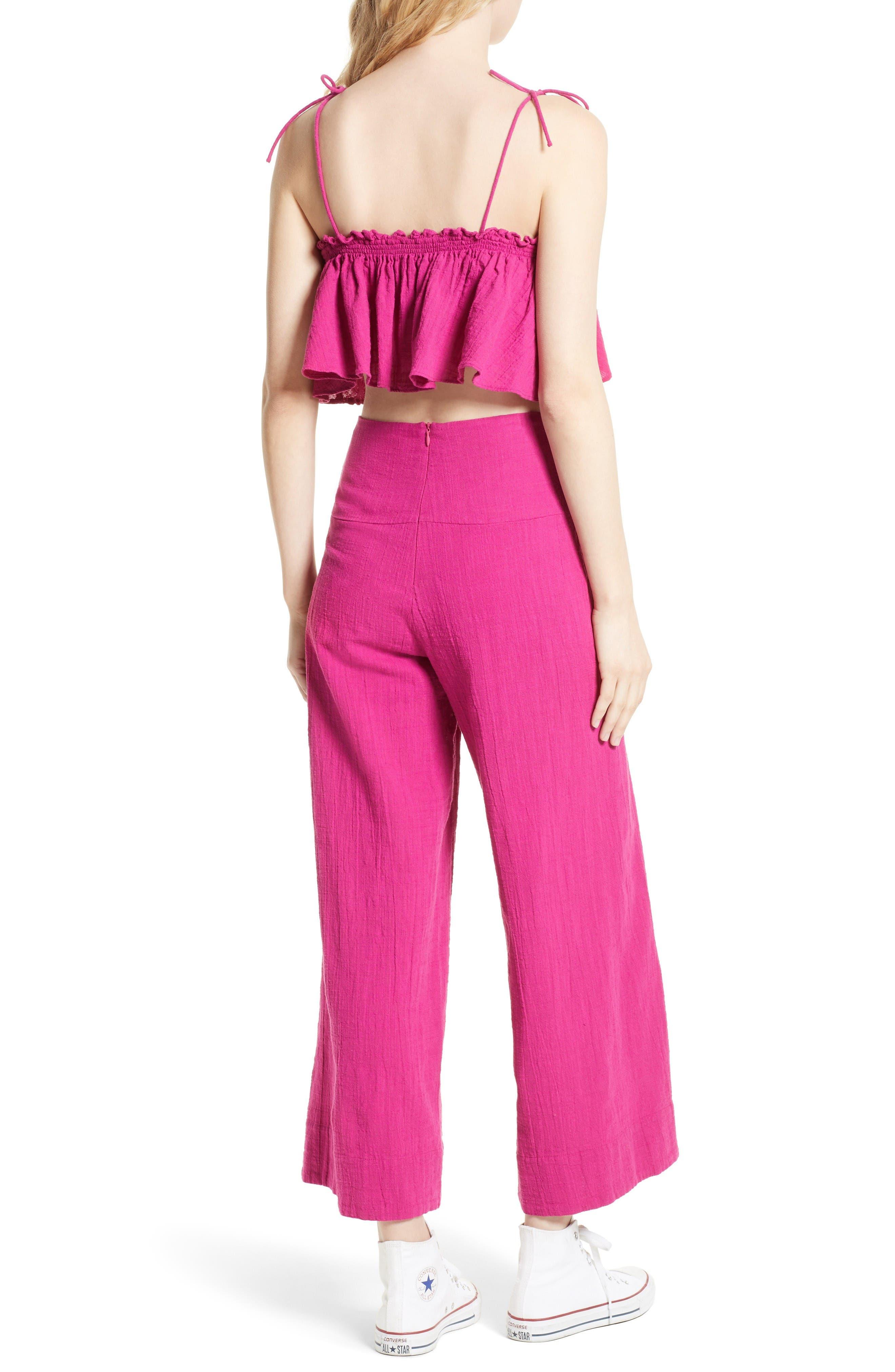 Alternate Image 2  - Free People Tropic Babe Crop Top & High Waist Pants Set