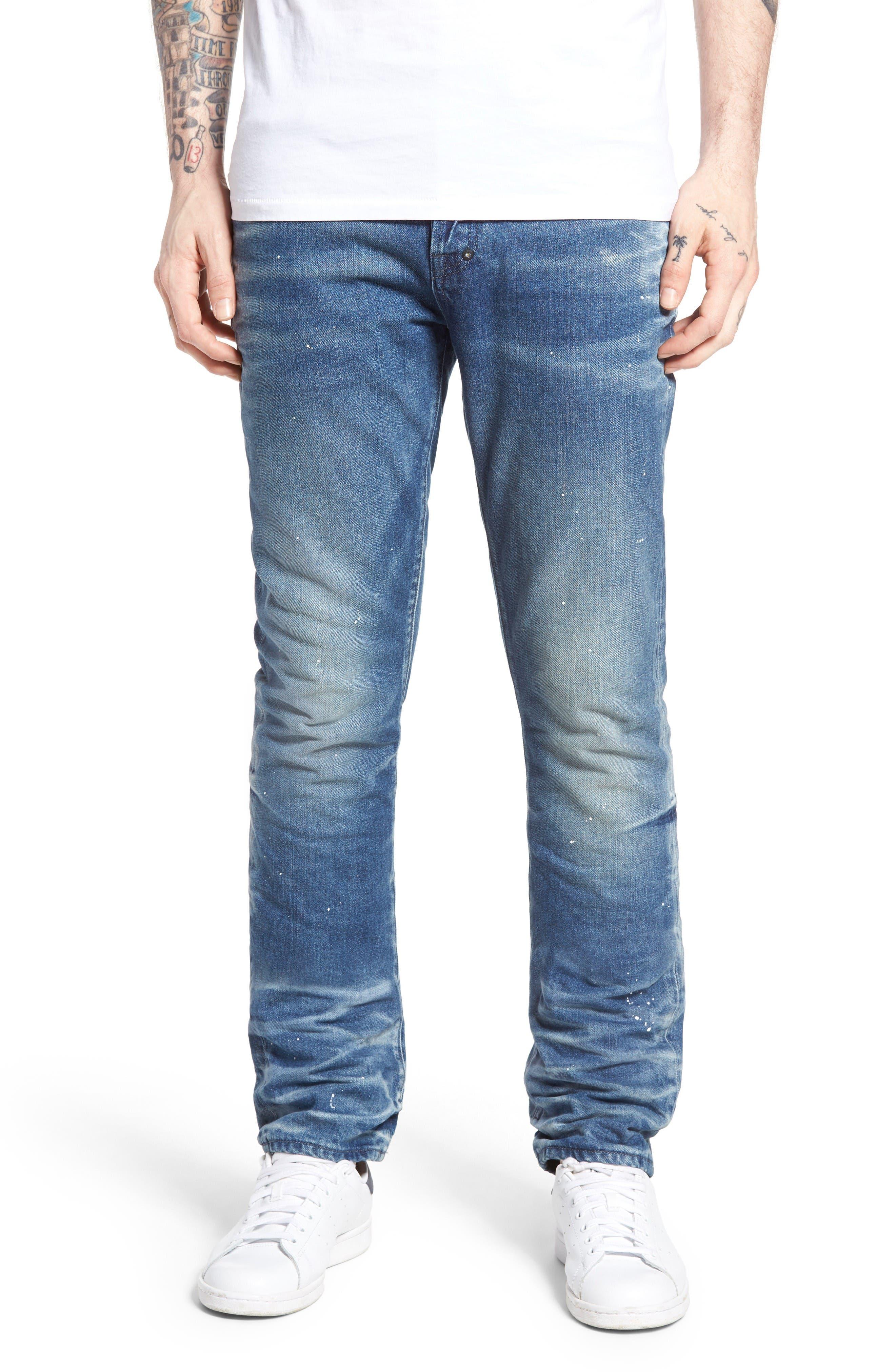 Demon Slim Straight Leg Jeans,                         Main,                         color, Mediam