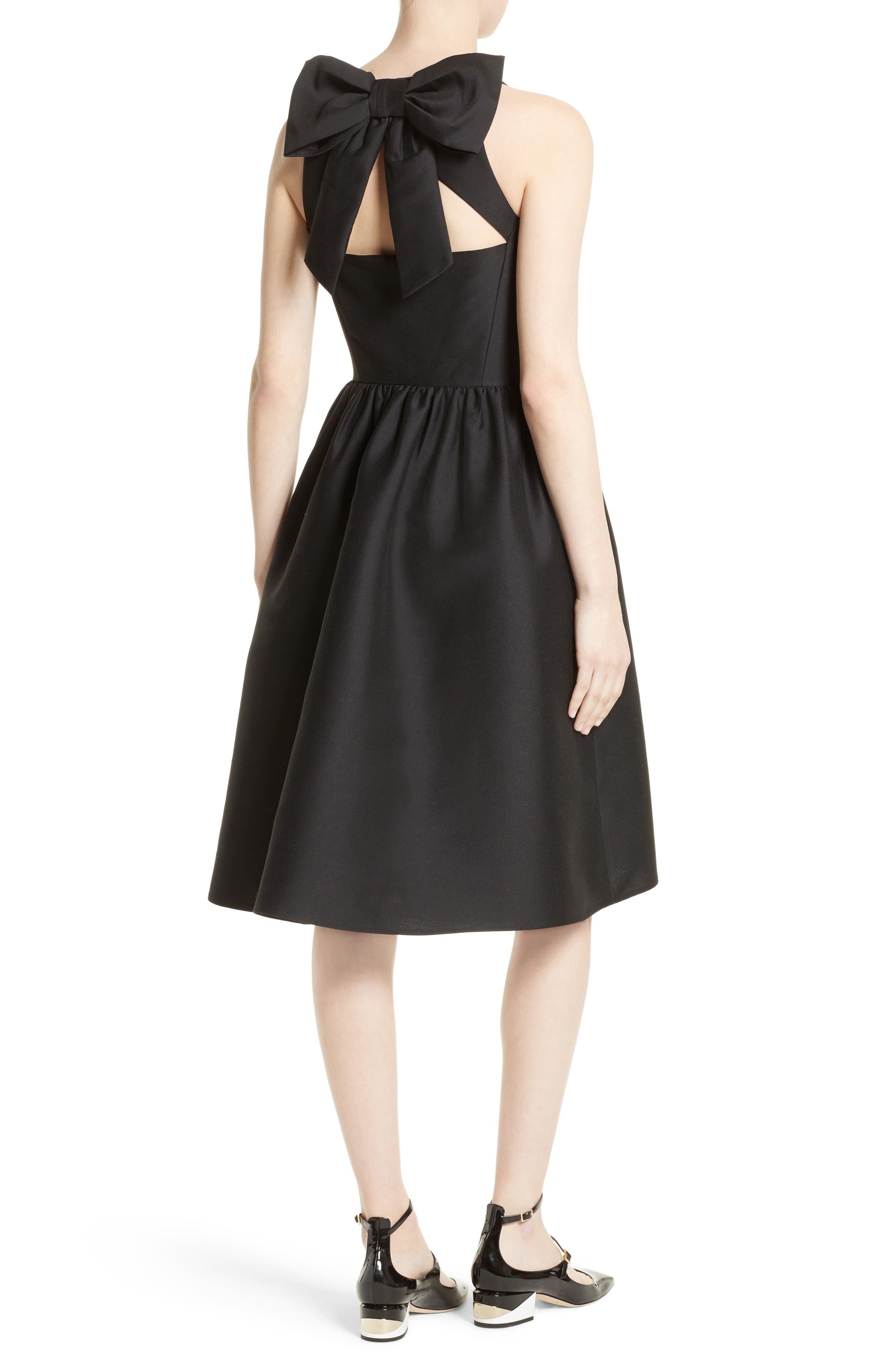 Alternate Image 2  - kate spade new york bow back fit & flare dress