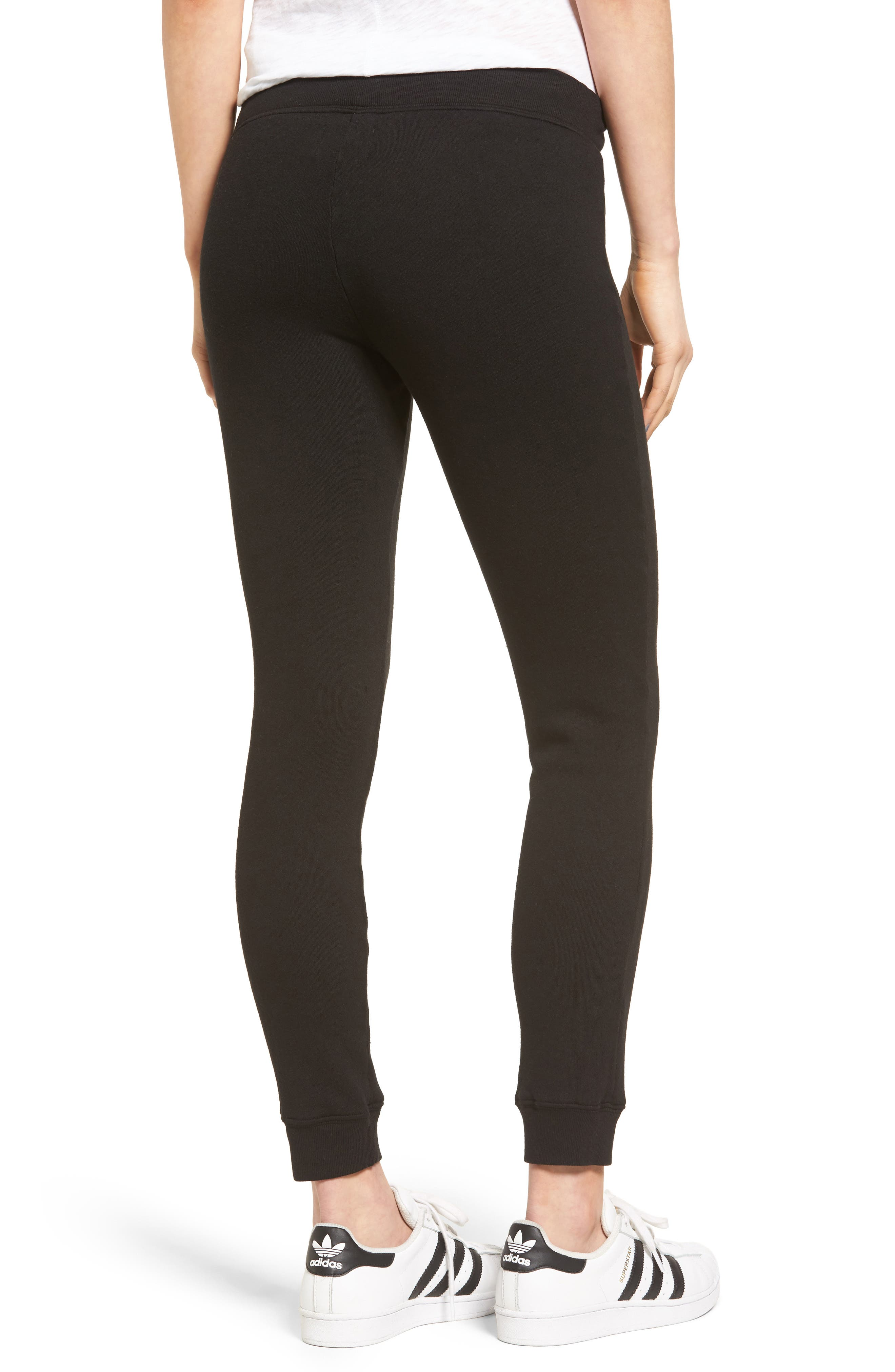 Betsee Distressed Jogger Pants,                             Alternate thumbnail 2, color,                             Black