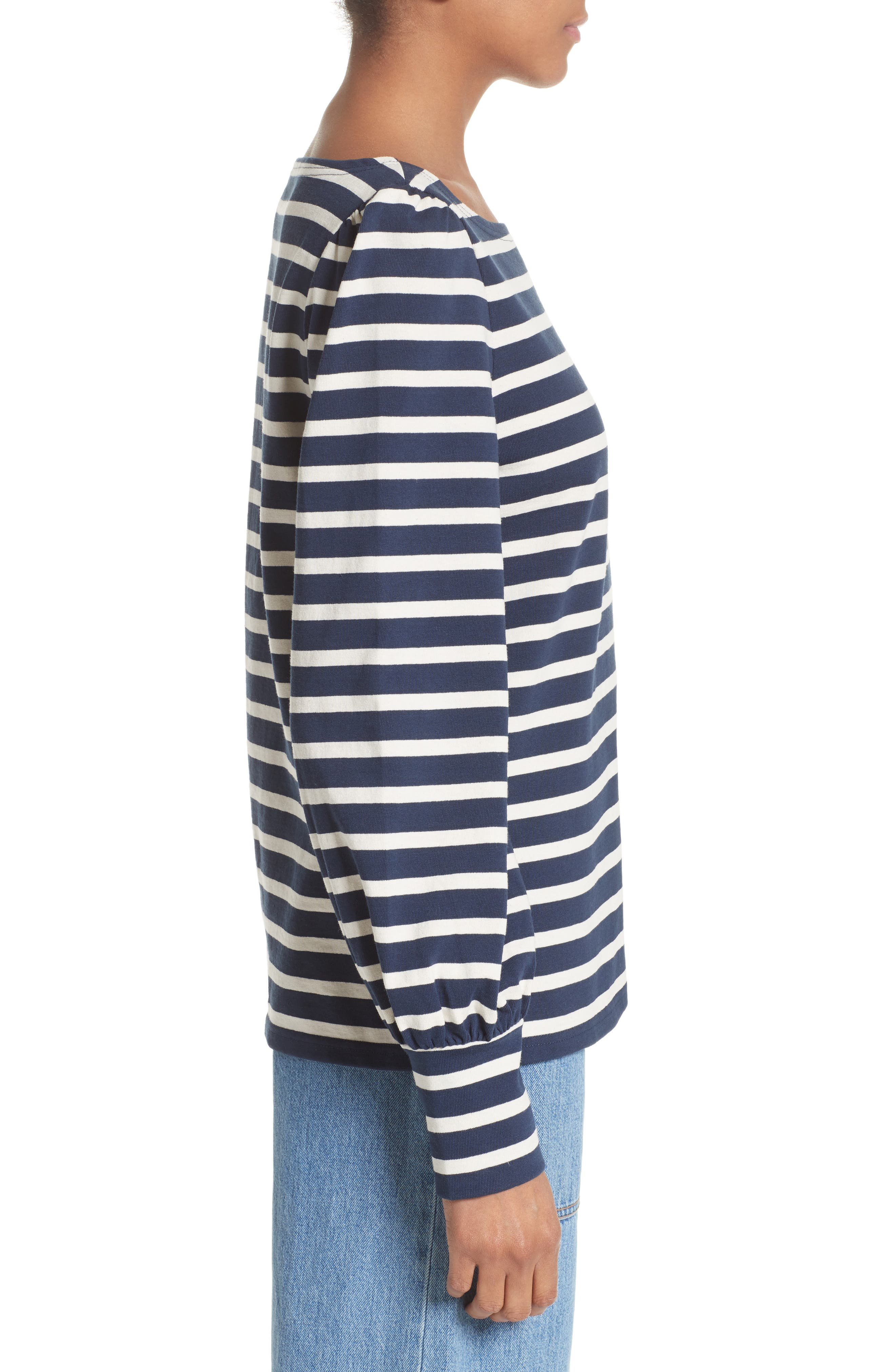 Alternate Image 5  - MARC JACOBS Reverse Breton Stripe Bell Sleeve Top