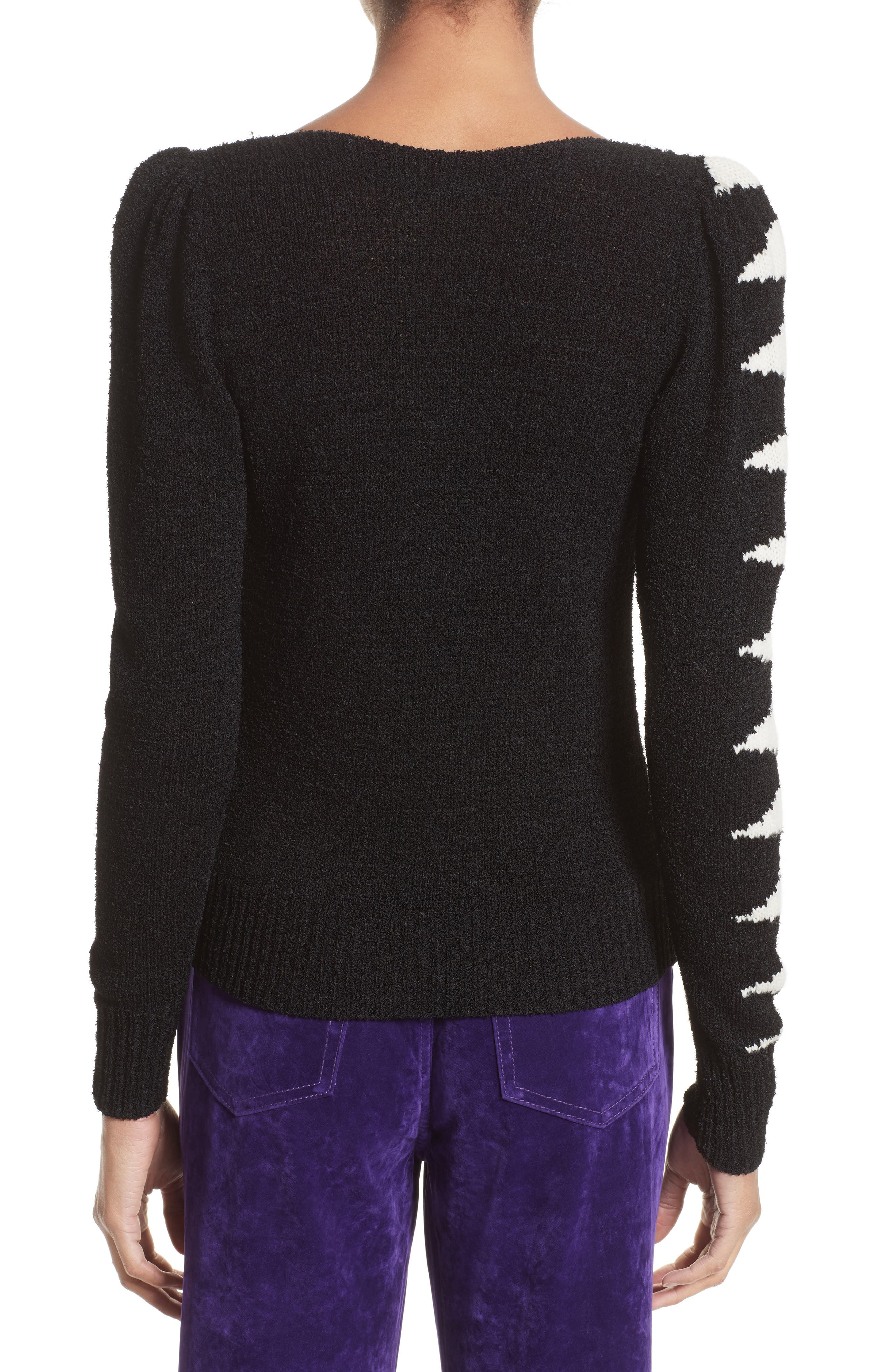 40s Intarsia Sweater,                             Alternate thumbnail 2, color,                             Black Multi