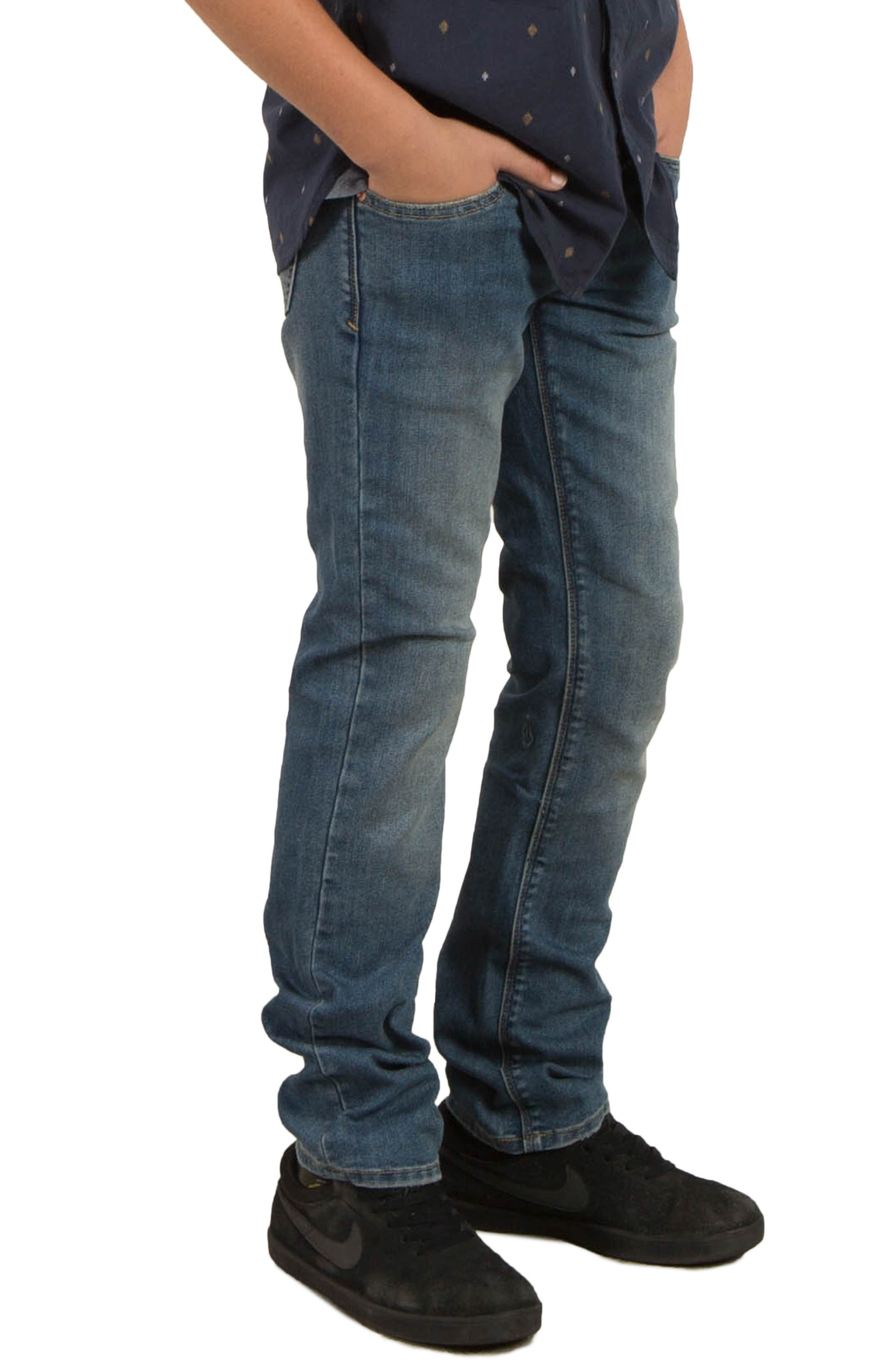 Alternate Image 4  - Volcom Vorta Slim Fit Jeans (Big Boys)