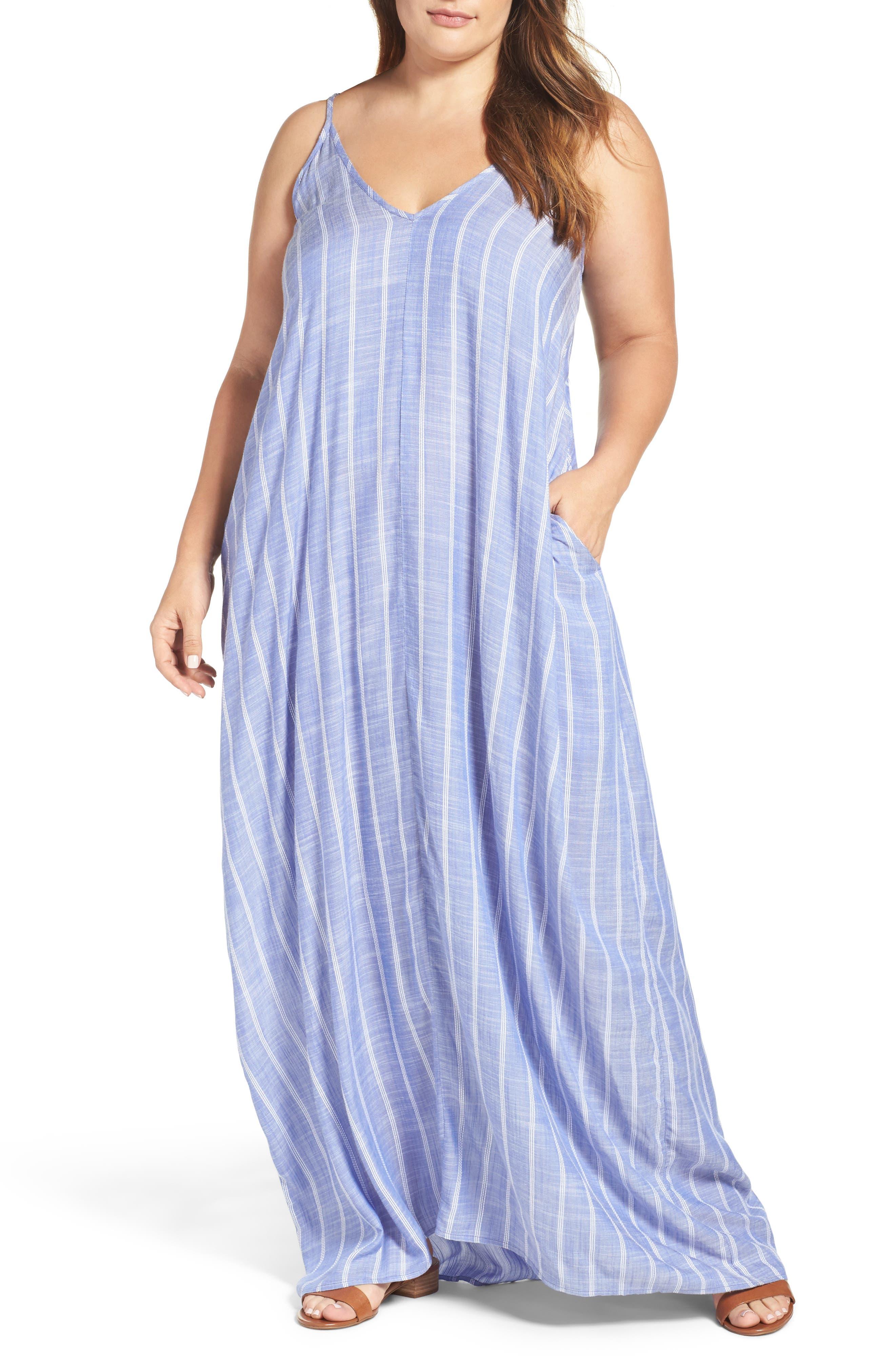 Elan Cover-Up Maxi Dress (Plus Size)