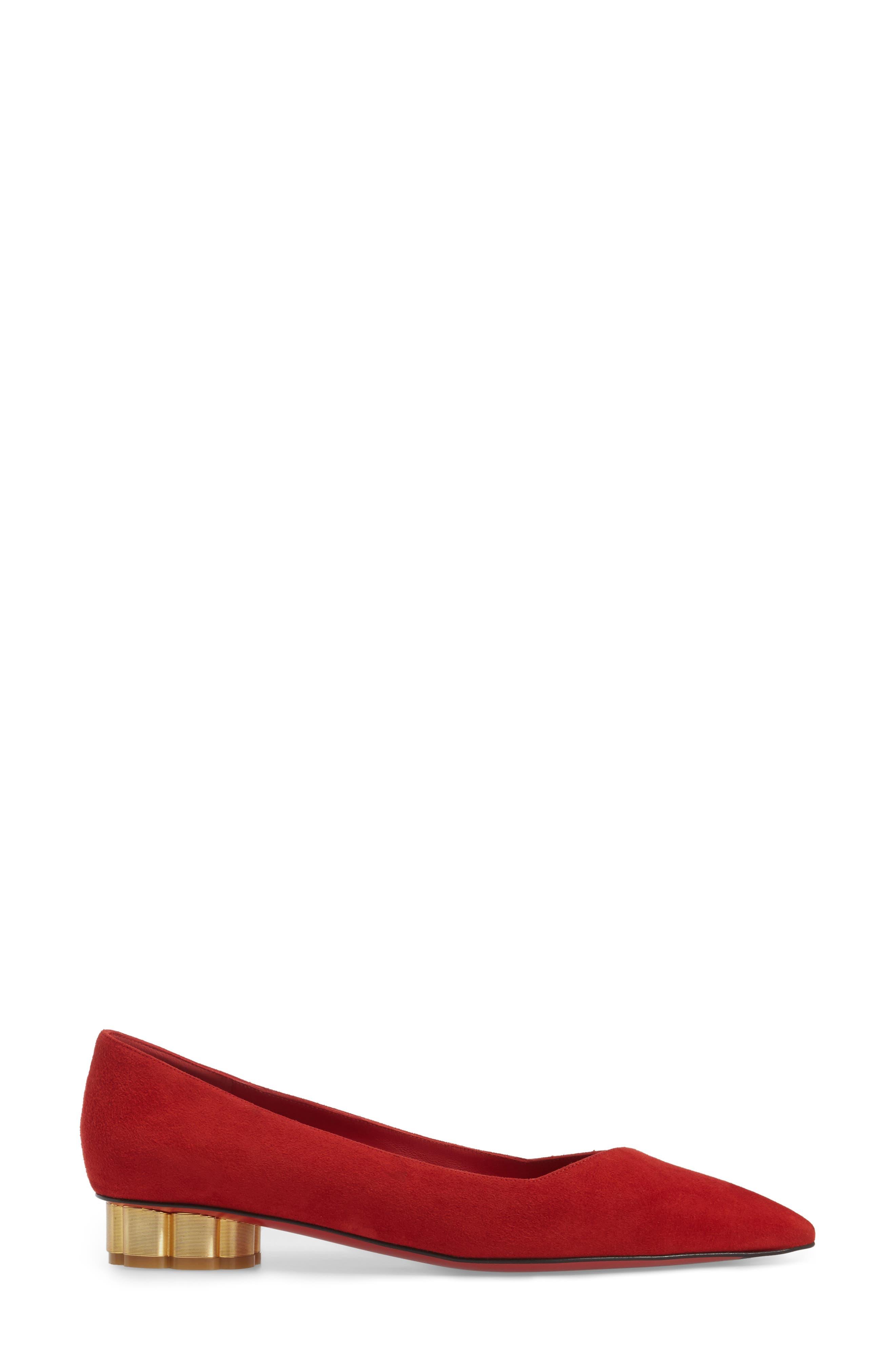 Alternate Image 3  - Salvatore Ferragamo Flower Heel Pump (Women)