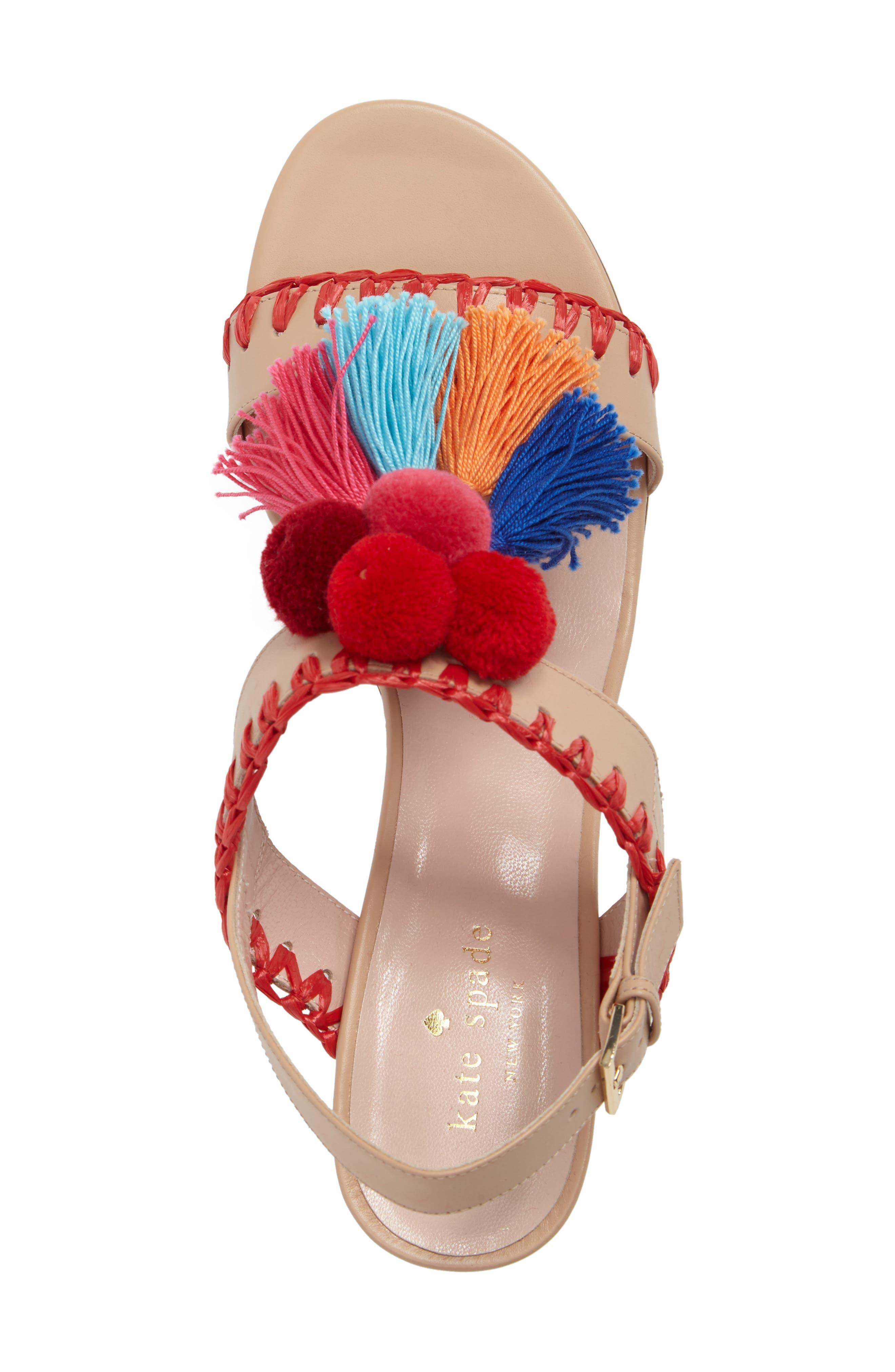 Alternate Image 5  - kate spade new york mcdougal pom tassel sandal (Women)