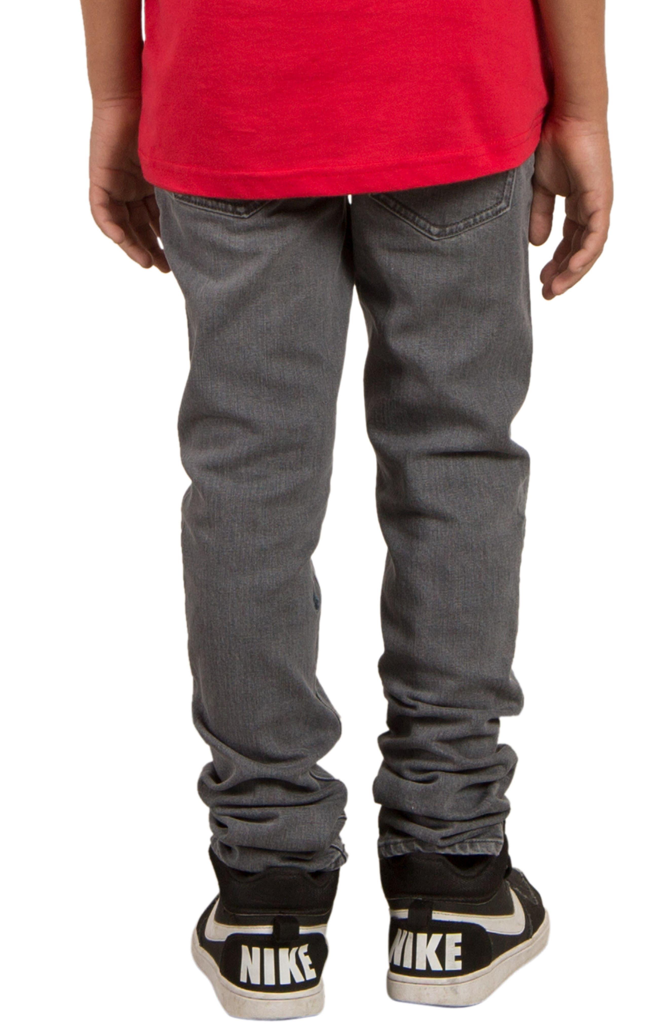 'Solver' Straight Leg Denim Jeans,                             Alternate thumbnail 2, color,                             Power Grey