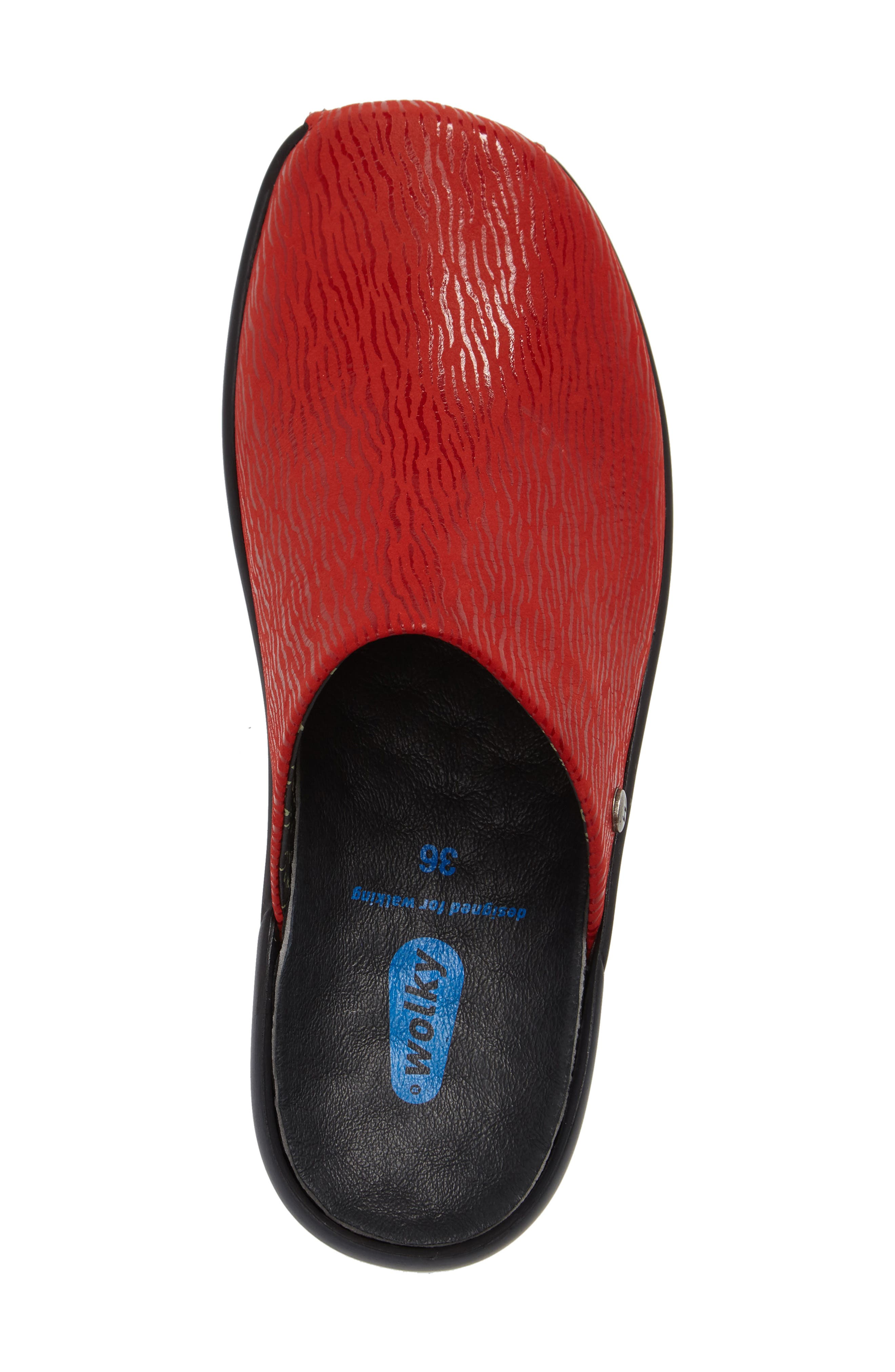 Go Clog,                             Alternate thumbnail 4, color,                             Red Leather