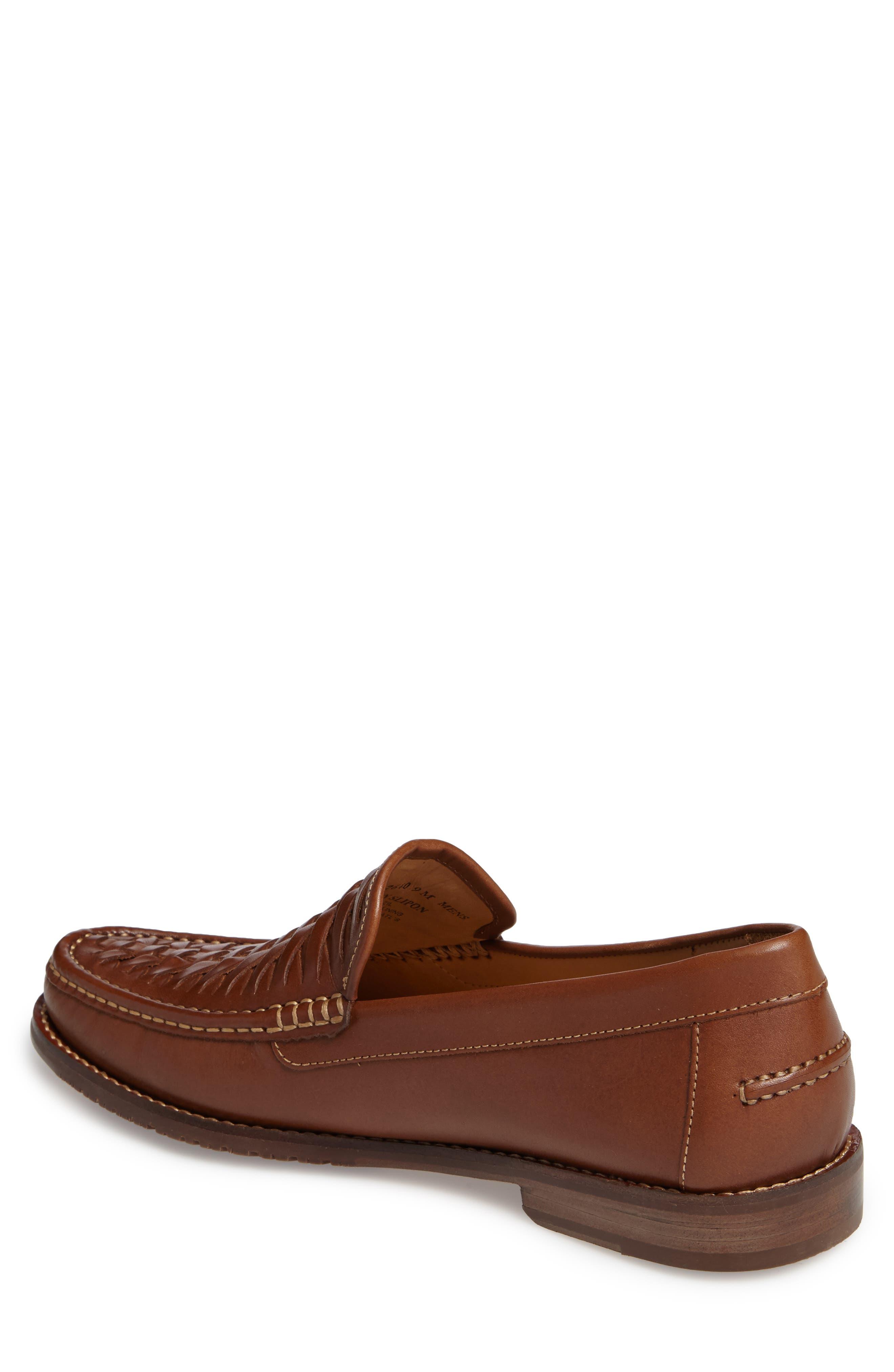 Fynn Loafer,                             Alternate thumbnail 2, color,                             Saddle Brown Leather