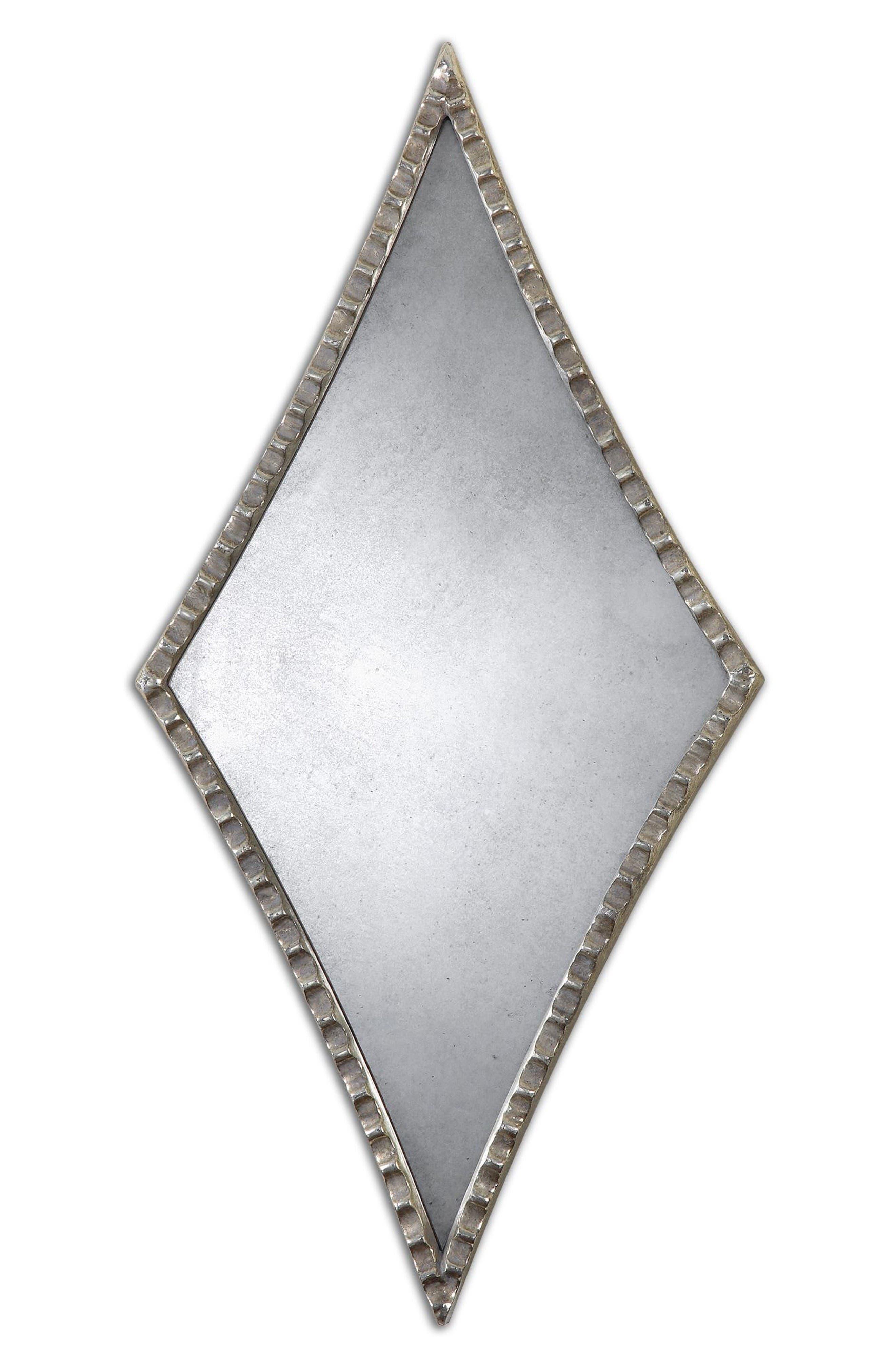 Gelston Set of 2 Diamond Wall Mirrors,                         Main,                         color, Metallic Silver