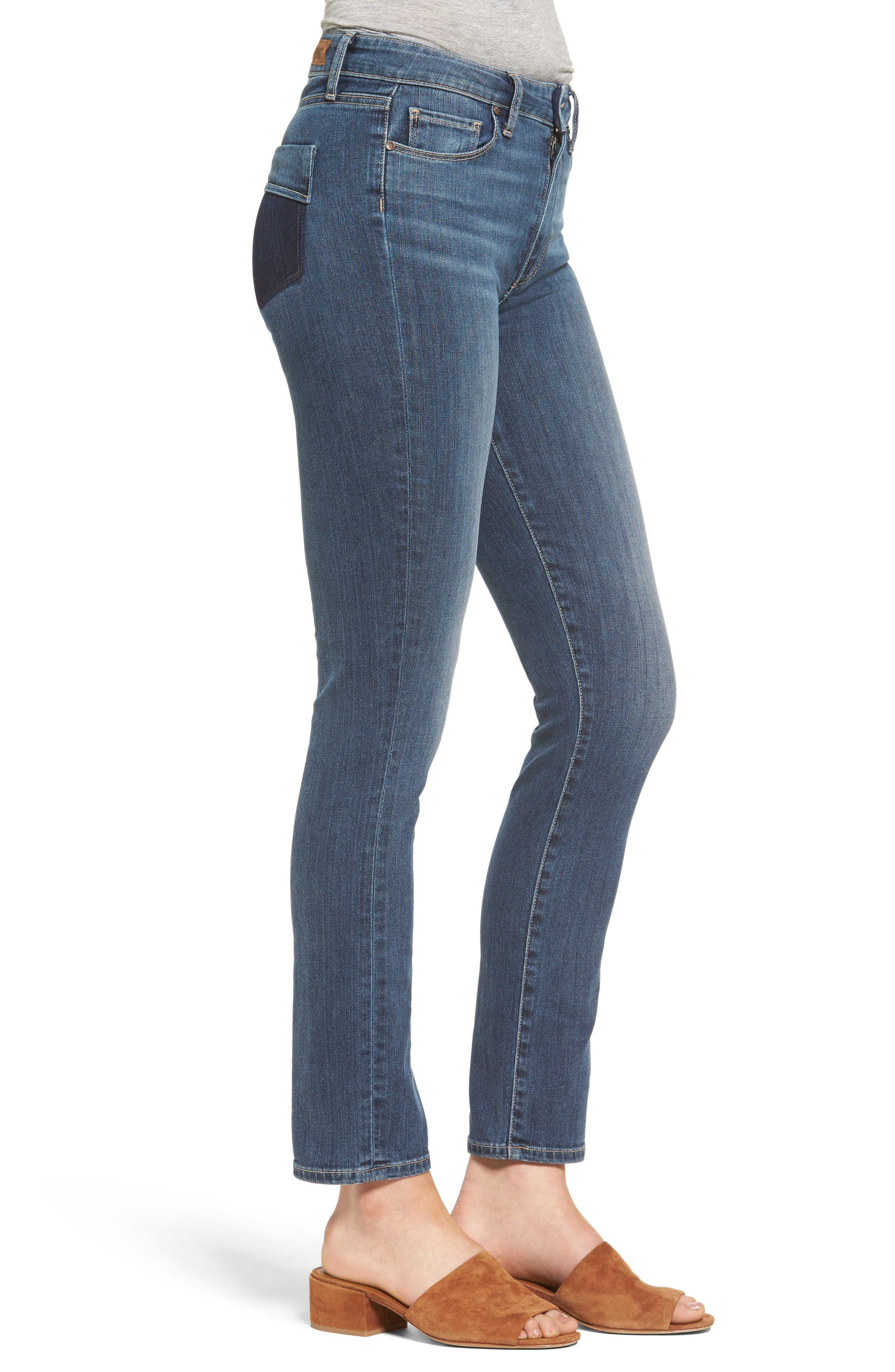 Alternate Image 3  - PAIGE River High Waist Ankle Peg Straight Leg Jeans (Izzy Distressed)