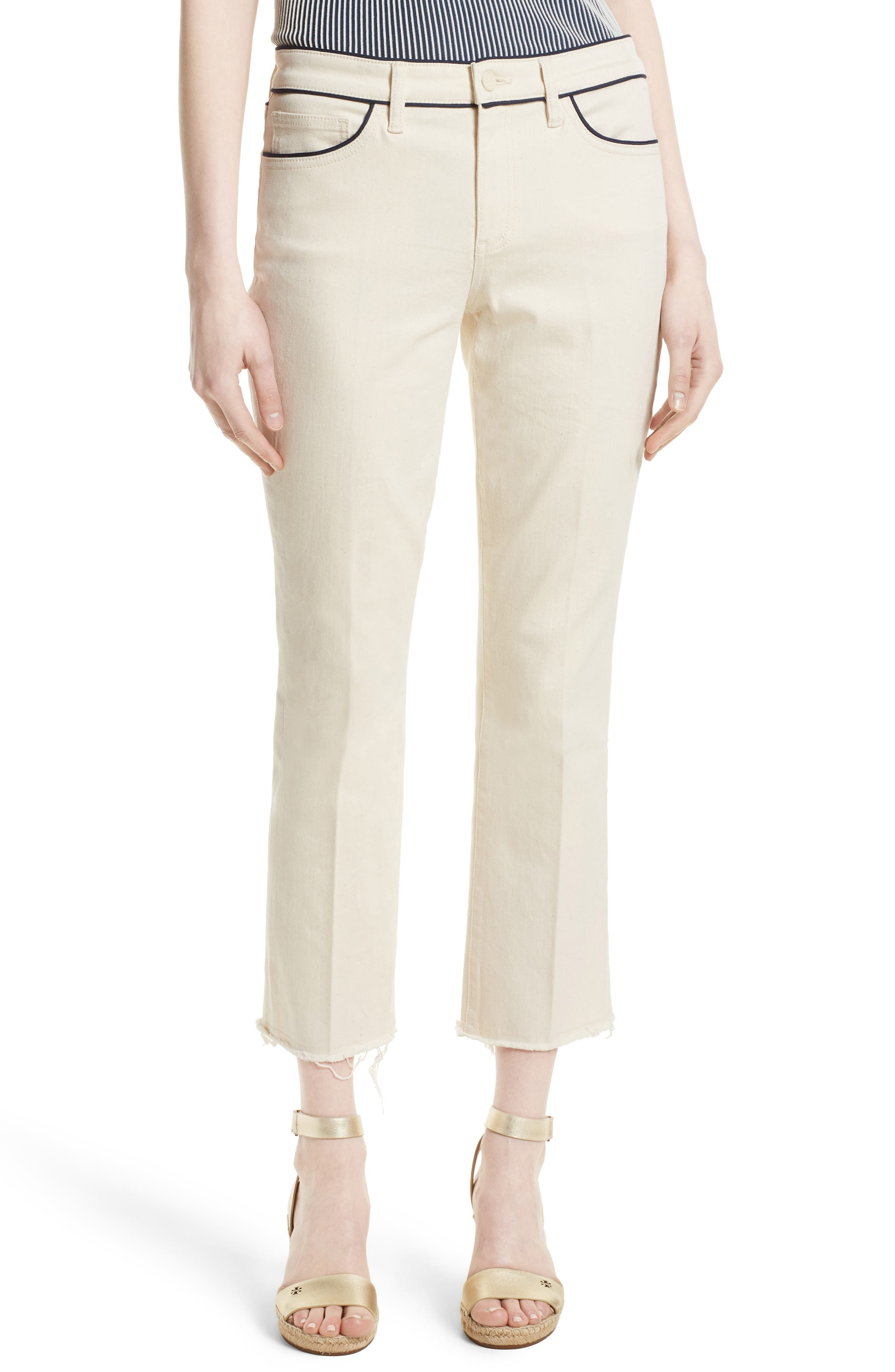Tory Burch Piped Crop Jeans