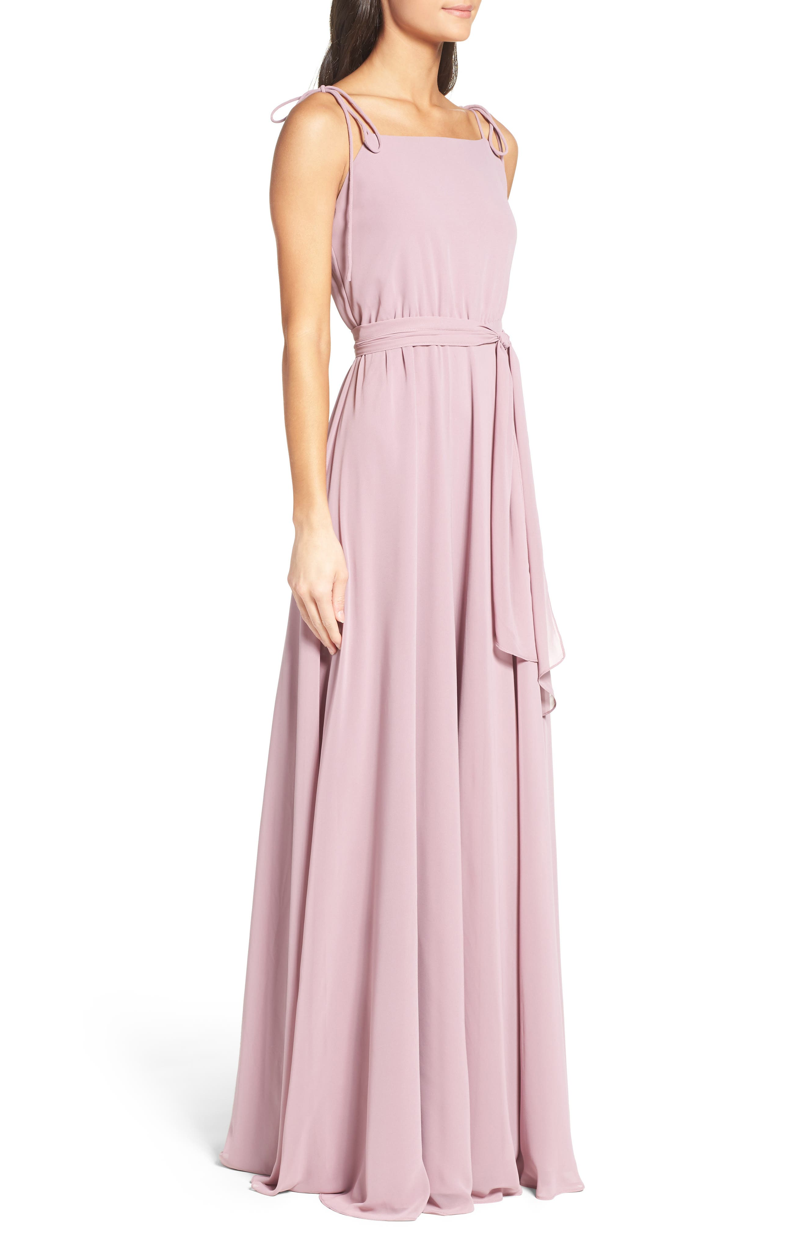 Alternate Image 3  - Ceremony by Joanna August Chiffon Gown