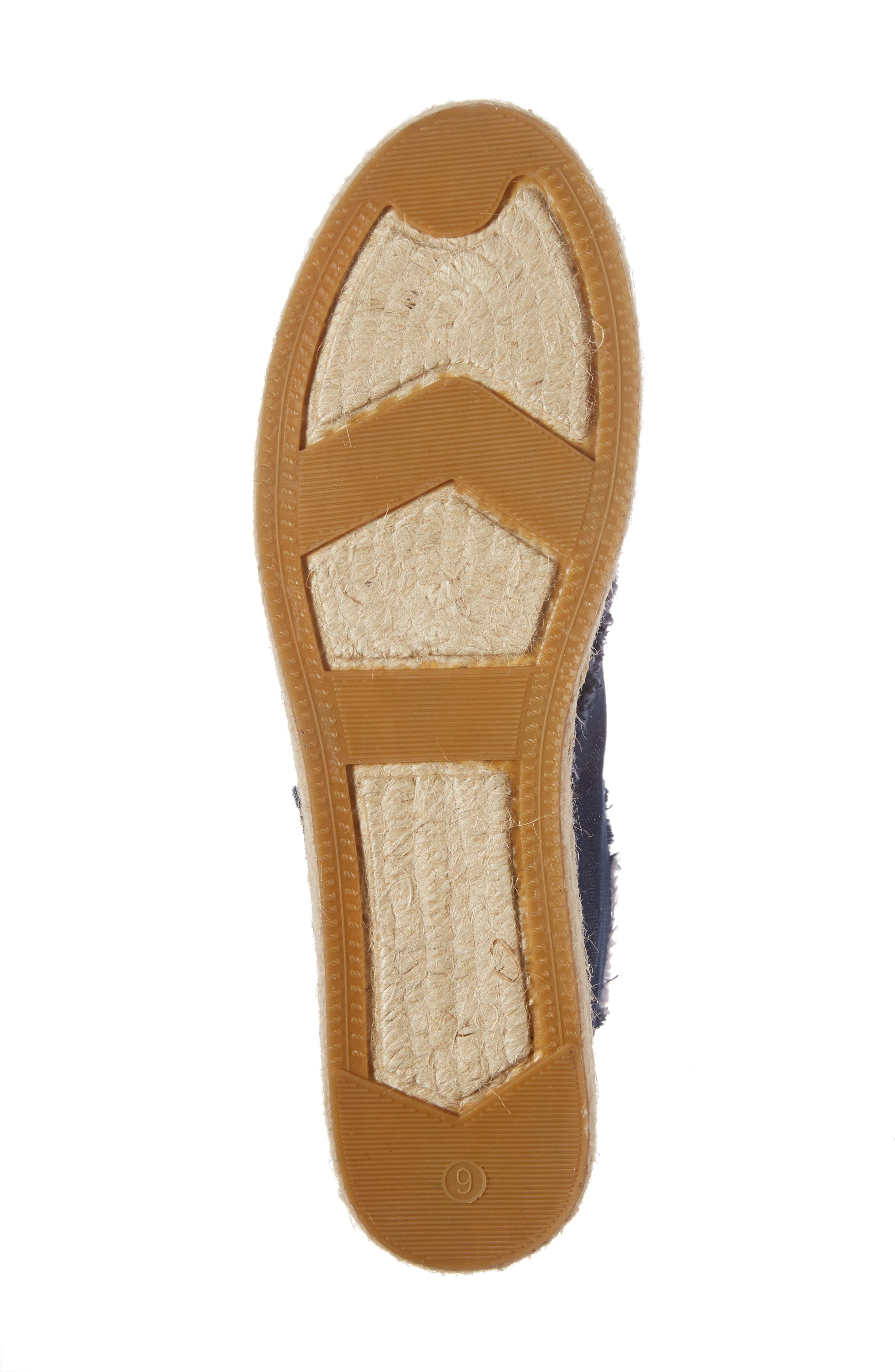 lane espadrille platform sneaker,                             Alternate thumbnail 6, color,                             Blue Jeans