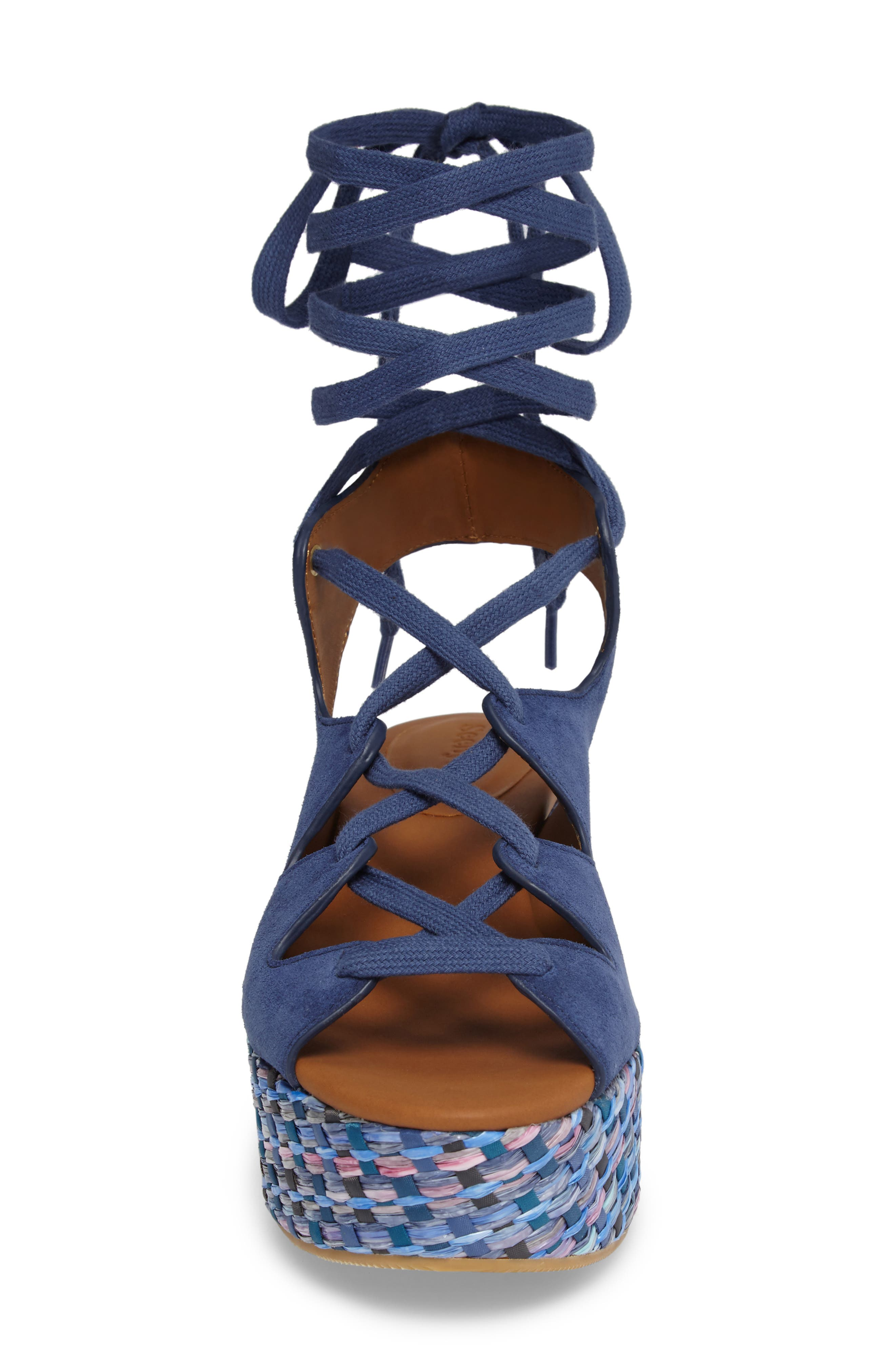 'Liana' Platform Wedge Sandal,                             Alternate thumbnail 4, color,                             Sugar