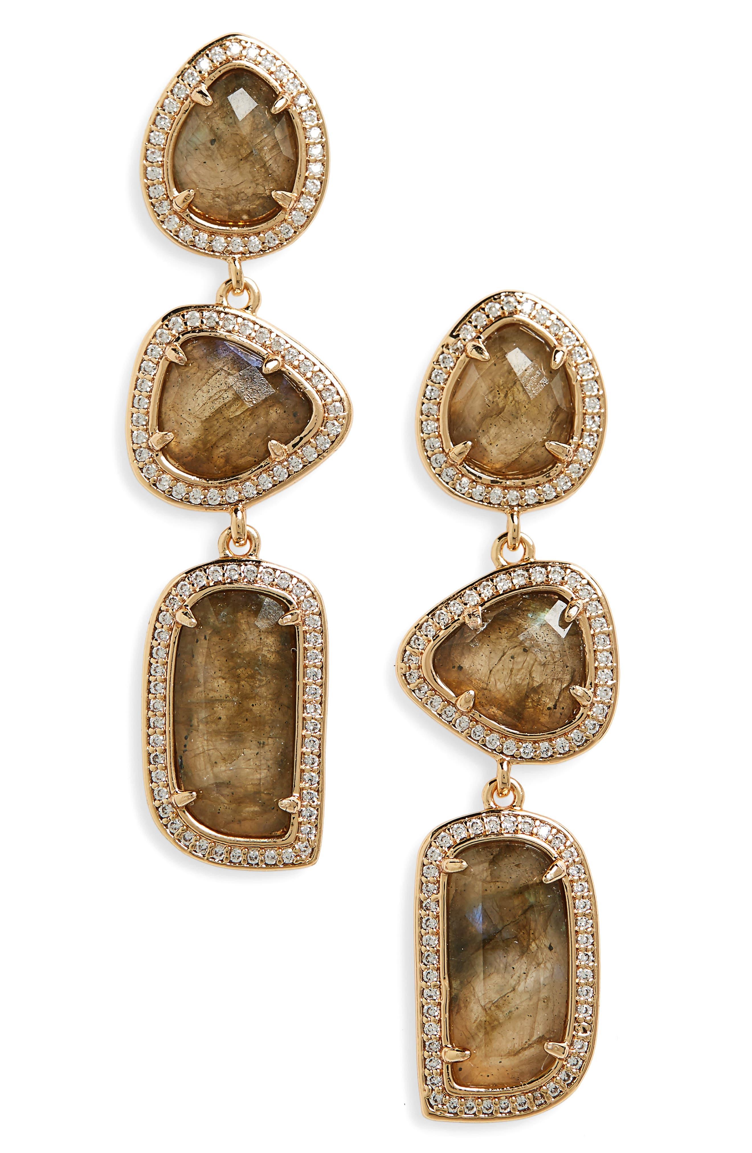 MELANIE AULD Linear Earrings
