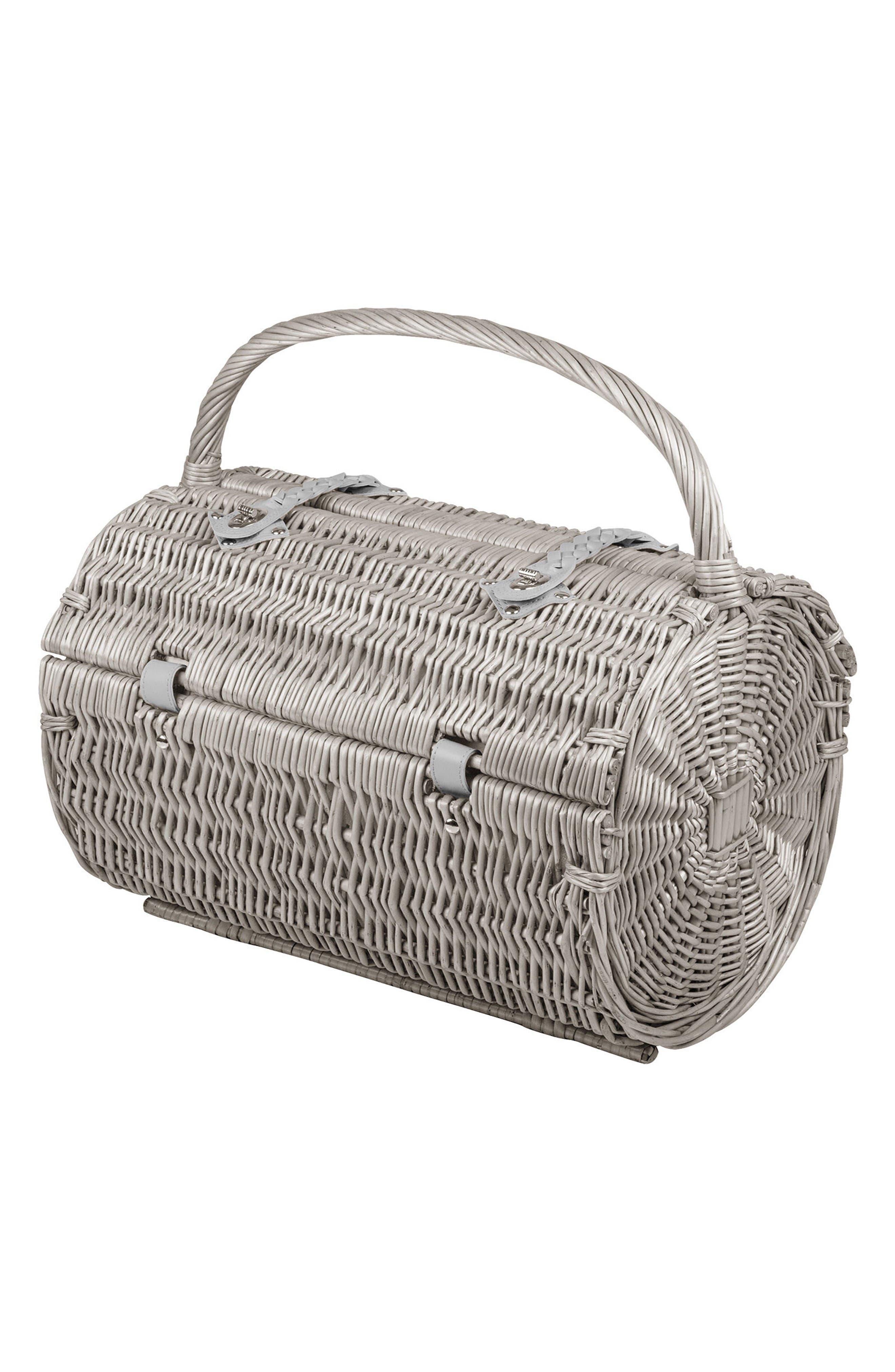 Alternate Image 2  - Picnic Time Wicker Barrel Picnic Basket
