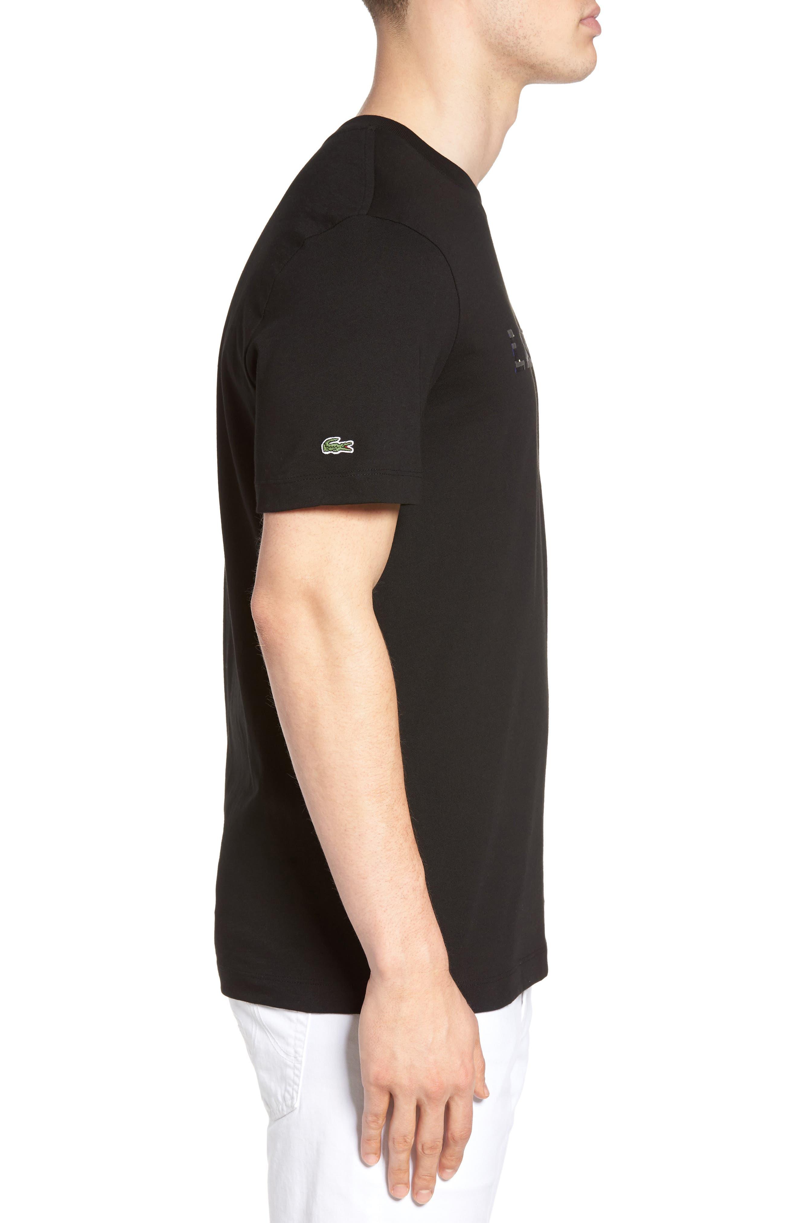 3D Logo Graphic T-Shirt,                             Alternate thumbnail 3, color,                             Black