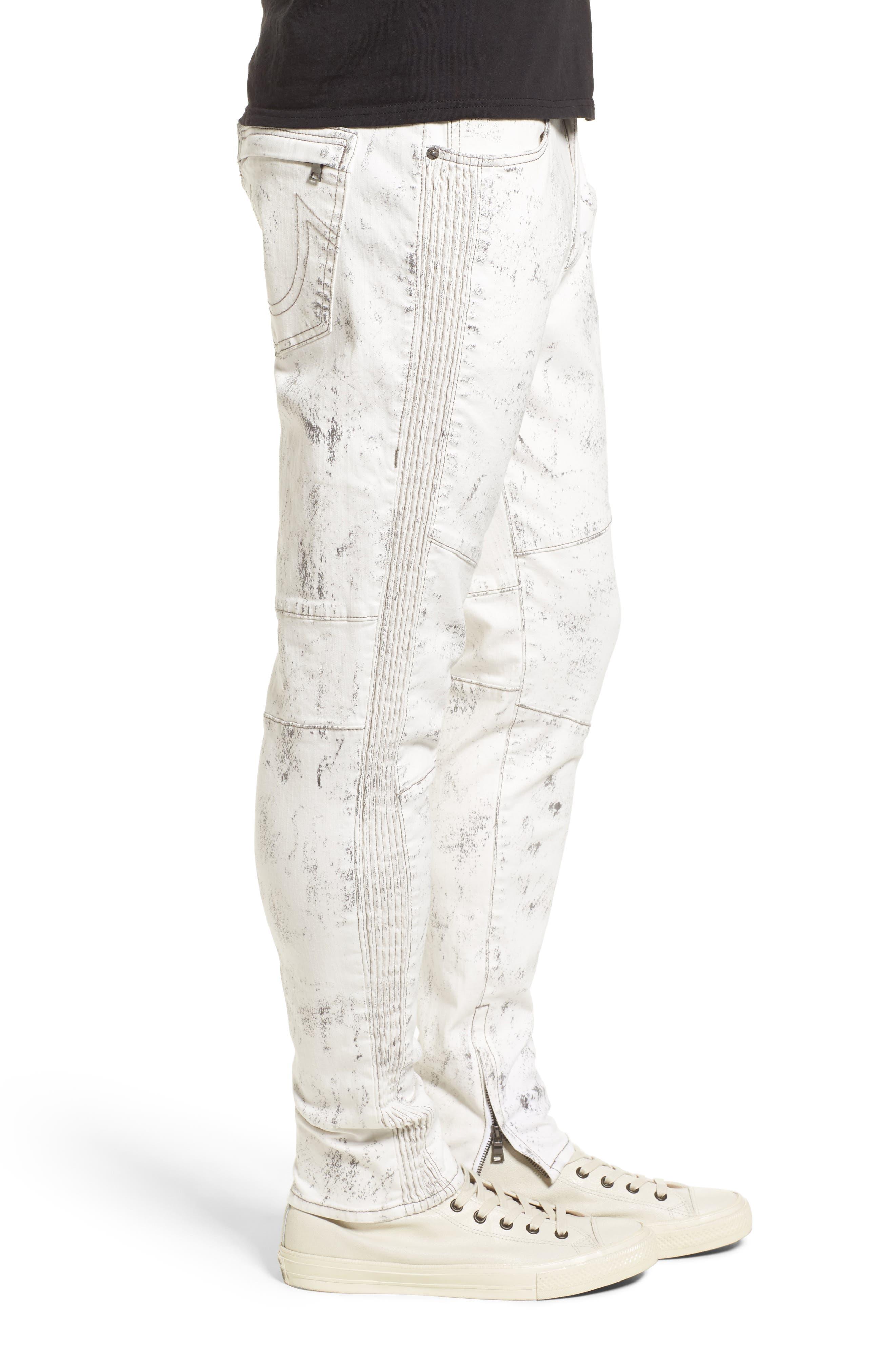Alternate Image 3  - True Religion Racer Skinny Fit Jeans (Black Sand)