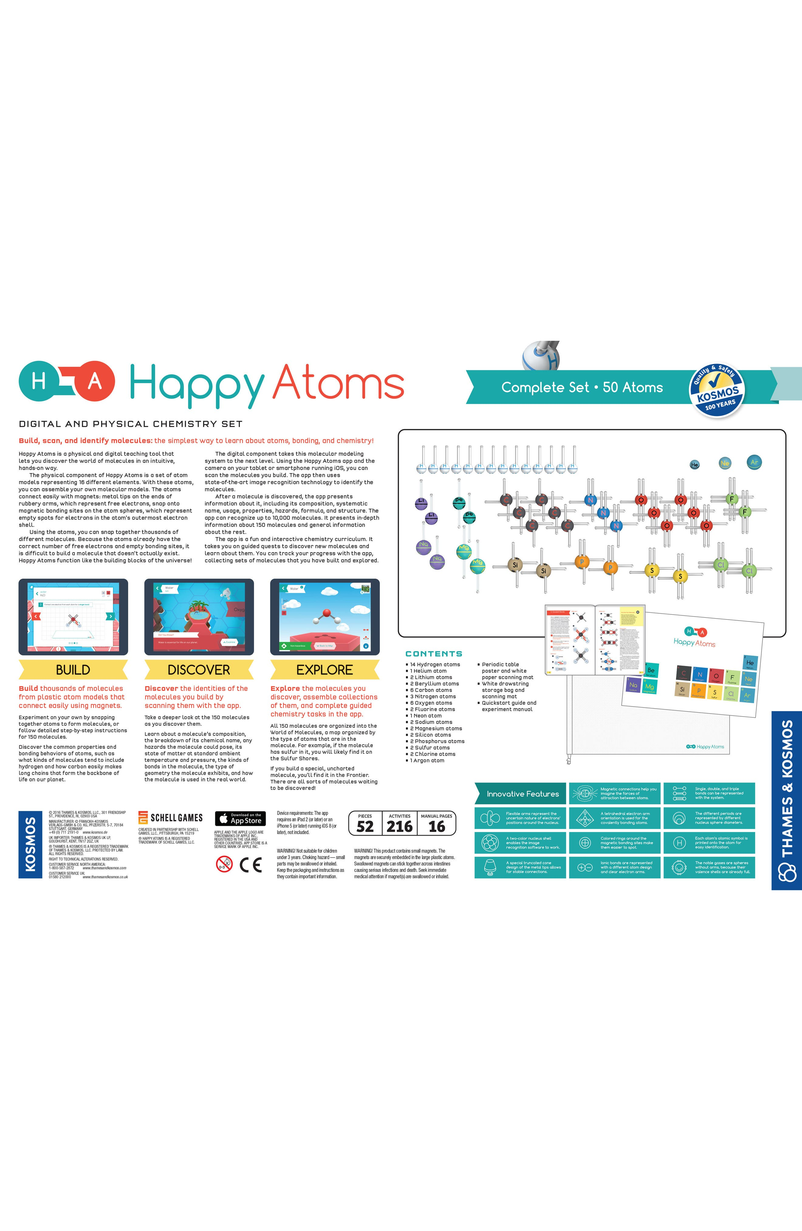 Alternate Image 6  - Thames & Kosmos Happy Atoms 50-Piece Science Kit Complete Set