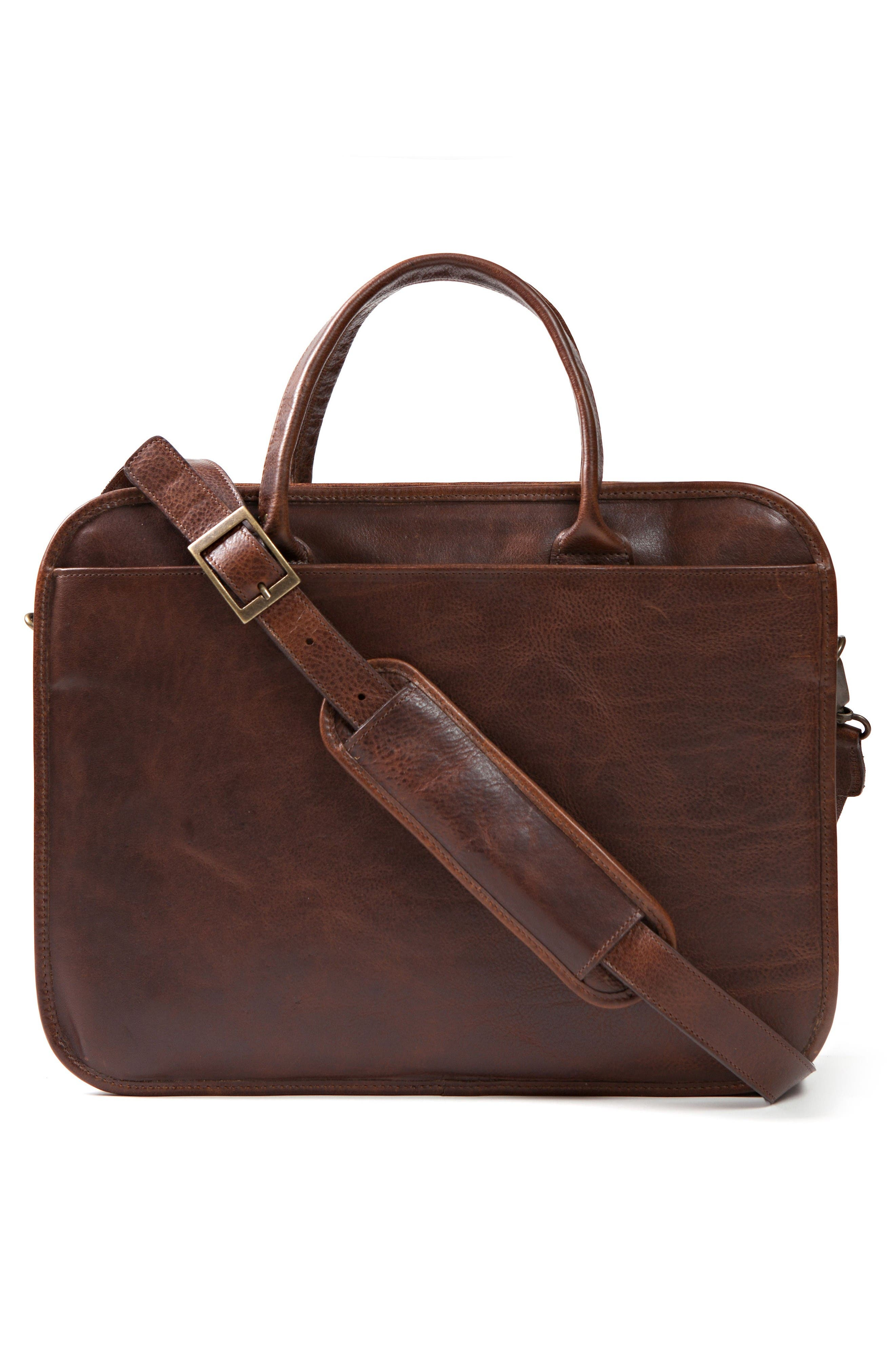 Miller Leather Briefcase,                             Alternate thumbnail 2, color,                             Titan Milled Brown