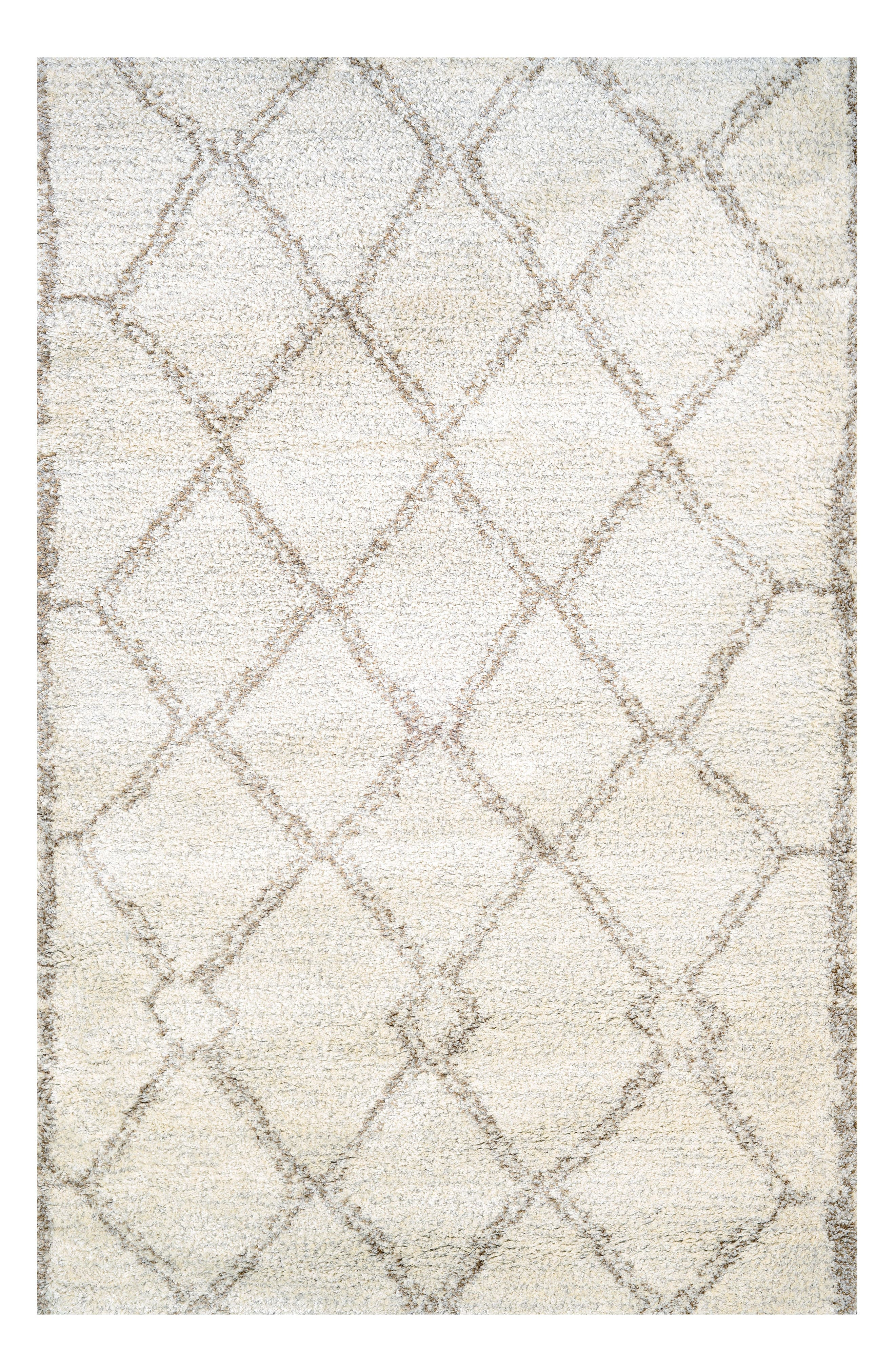 Snowflake Area Rug,                         Main,                         color, Light Beige