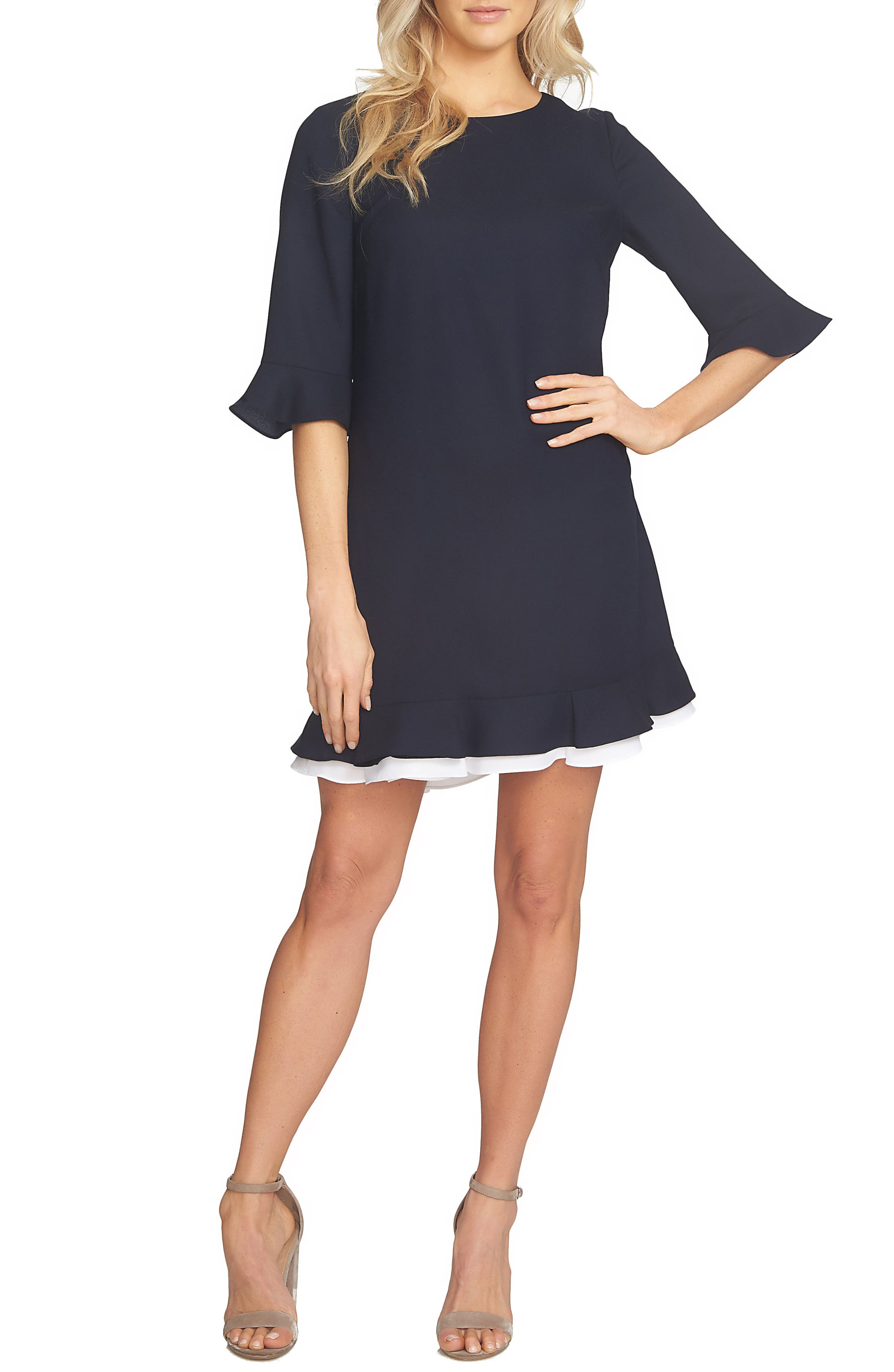 Alternate Image 1 Selected - CeCe Kate Ruffle Dress (Regular & Petite)