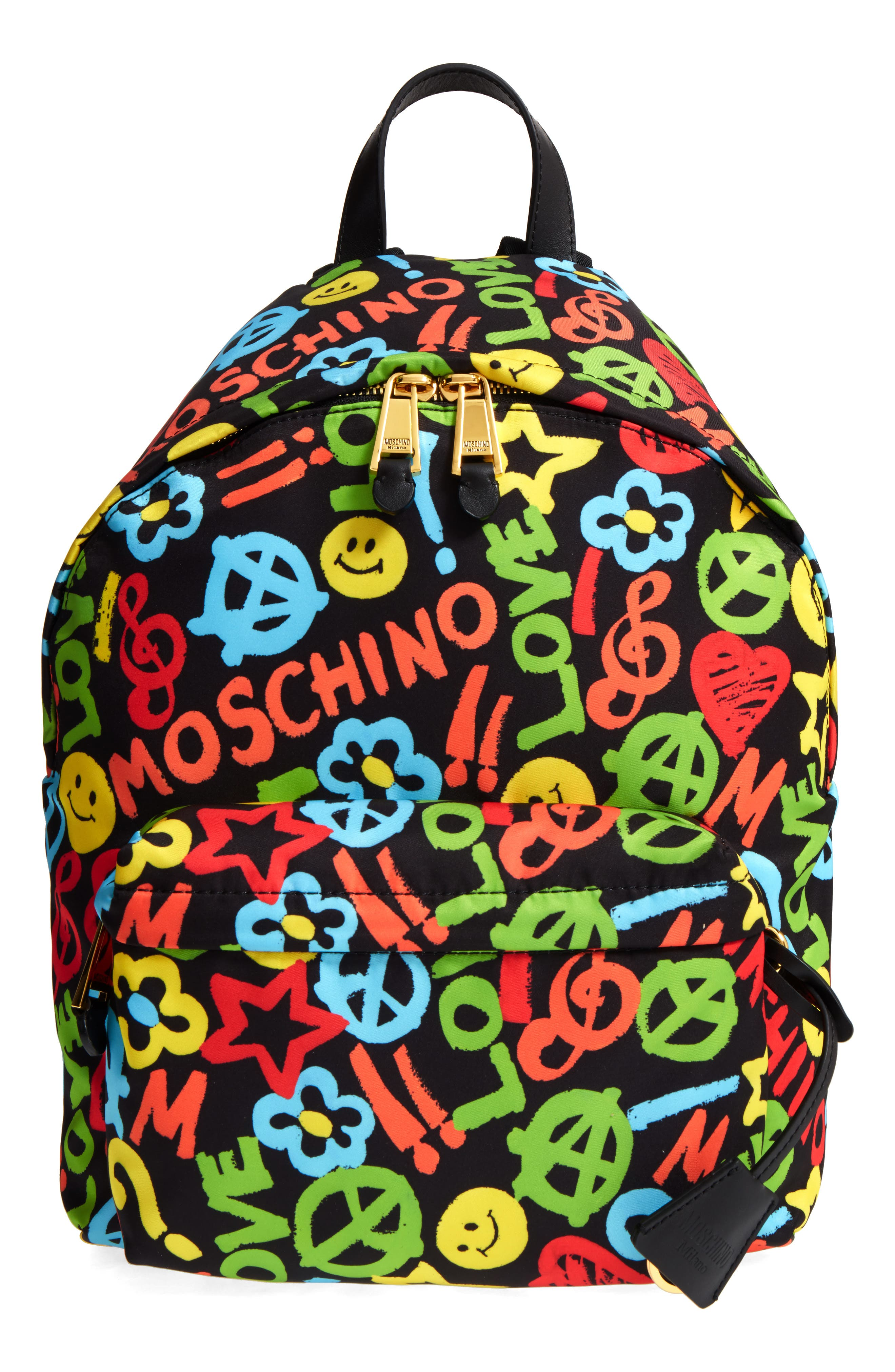 Main Image - Moschino Archive Print Tactel® Nylon Backpack