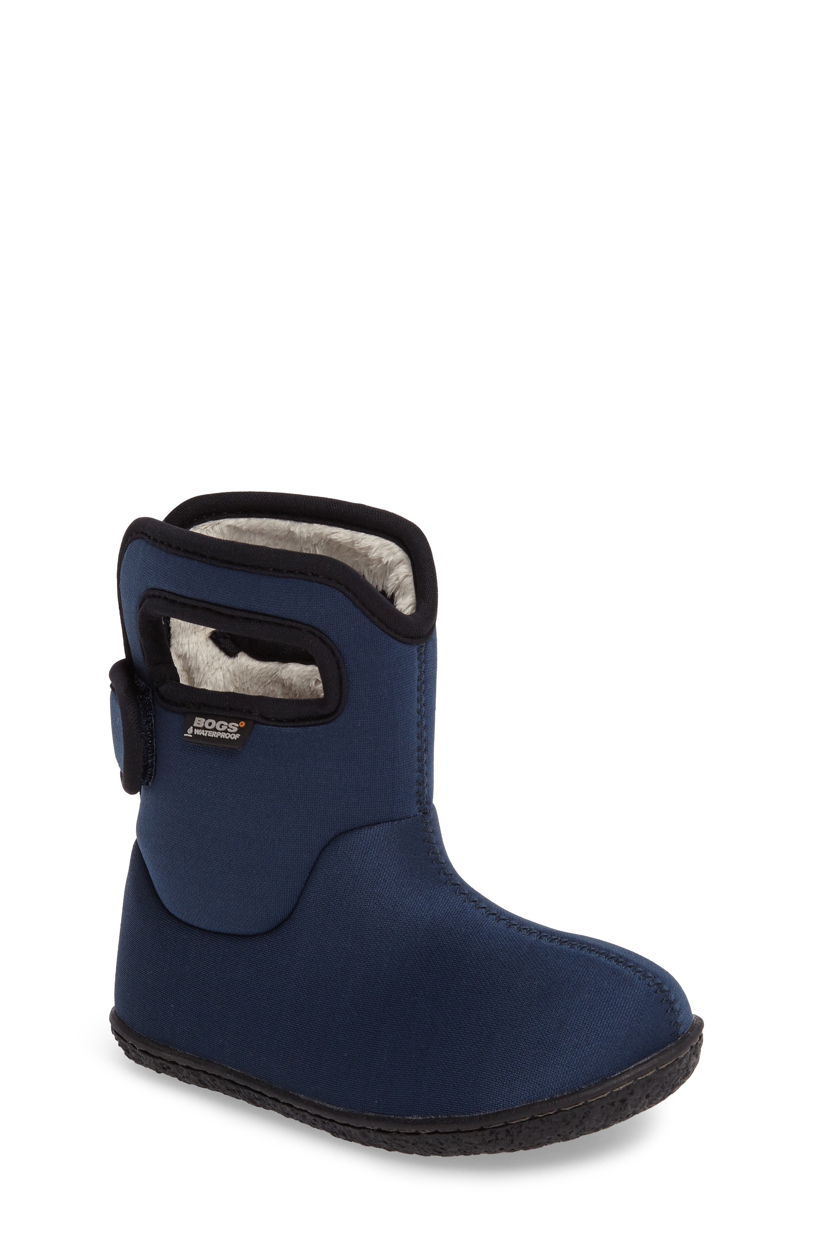 Main Image - Bogs Classic Solid Insulated Waterproof Rain Boot (Baby, Walker & Toddler)