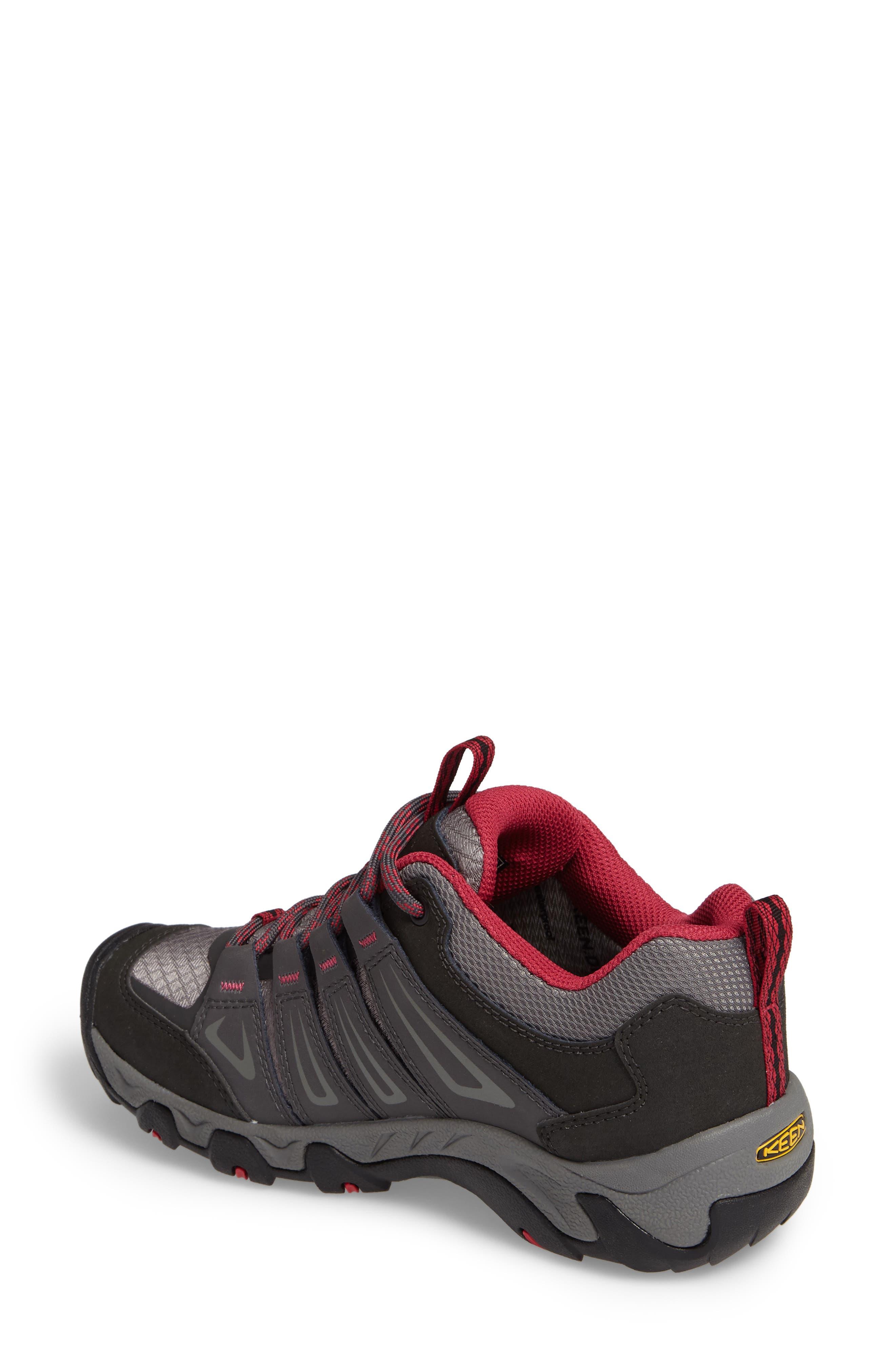 Oakridge Waterproof Hiking Shoe,                             Alternate thumbnail 2, color,                             Magnet/ Rose Fabric
