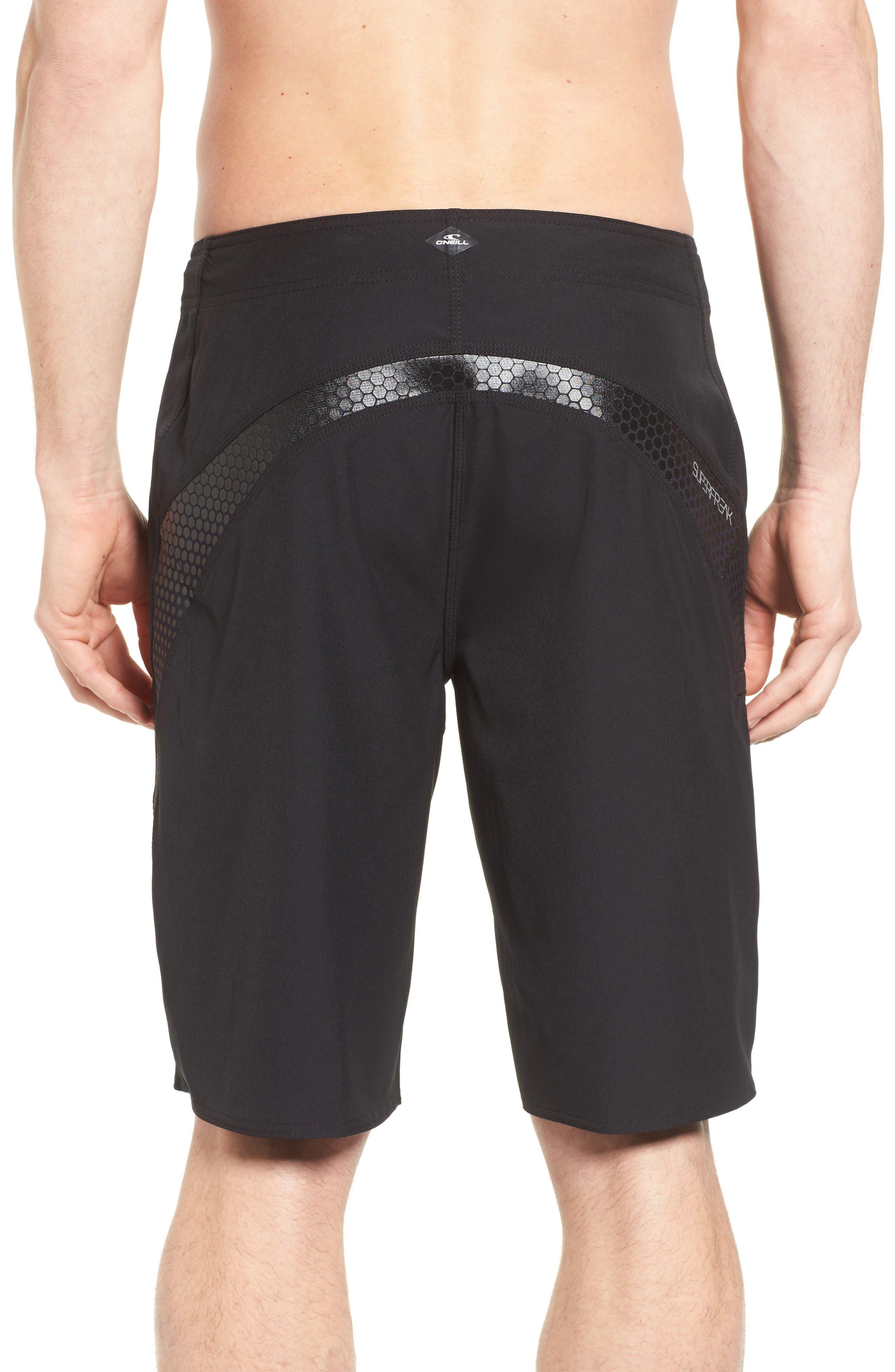 Superfreak Board Shorts,                             Alternate thumbnail 2, color,                             Black