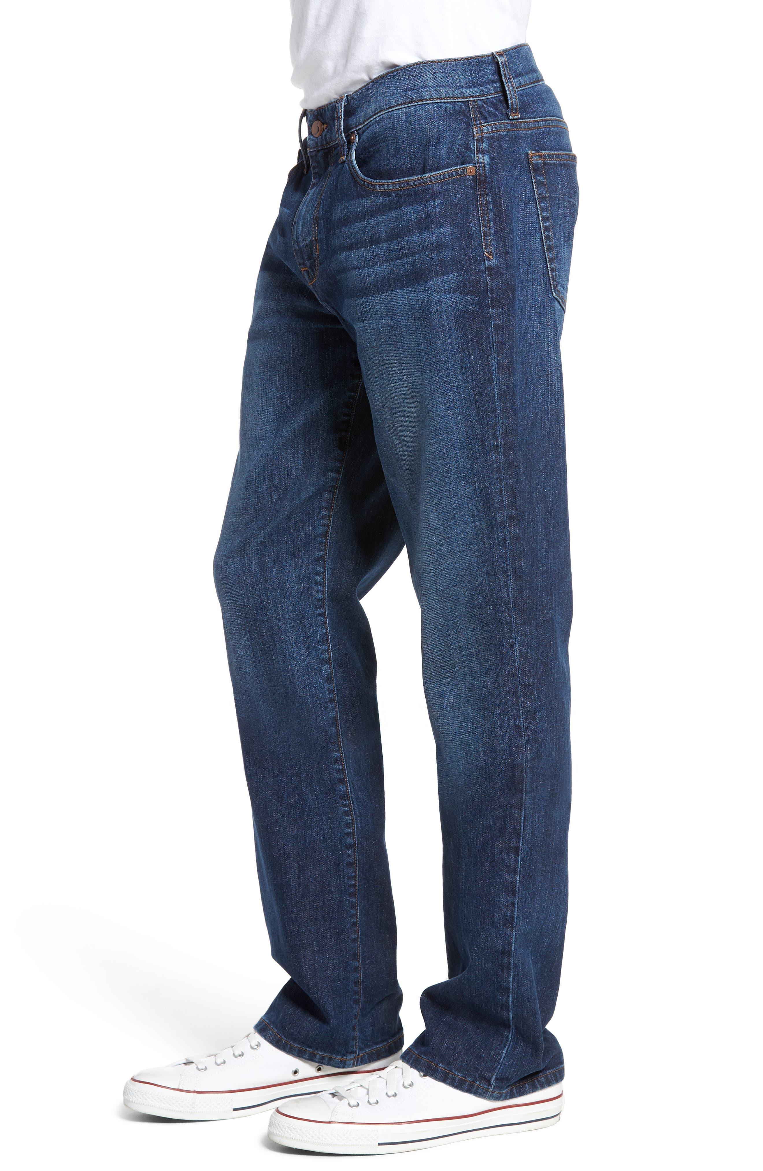 Classic Straight Fit Jeans,                             Alternate thumbnail 3, color,                             Drexler