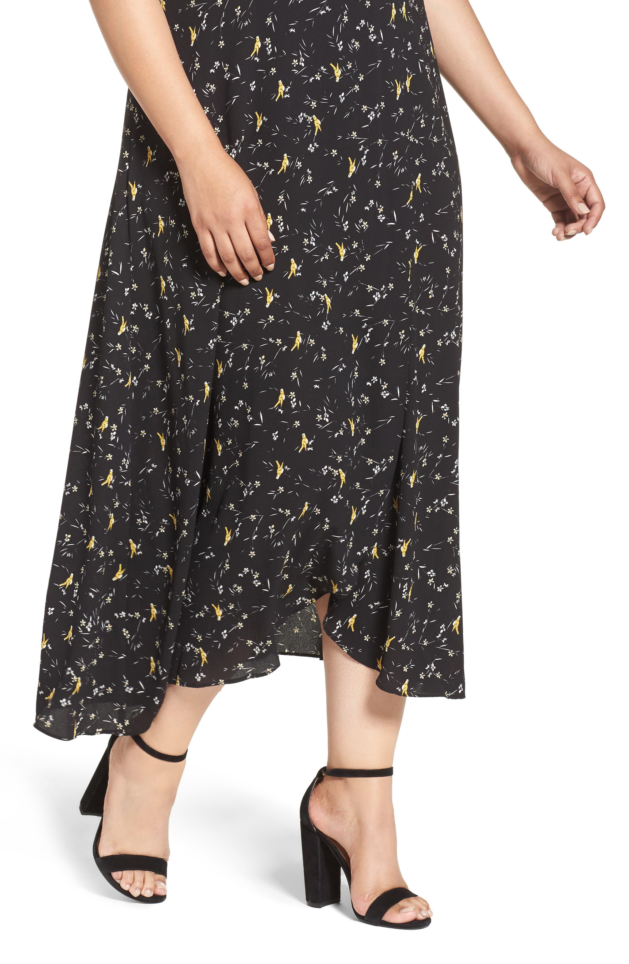 Alternate Image 4  - Glamorous Print Maxi Dress (Plus Size)
