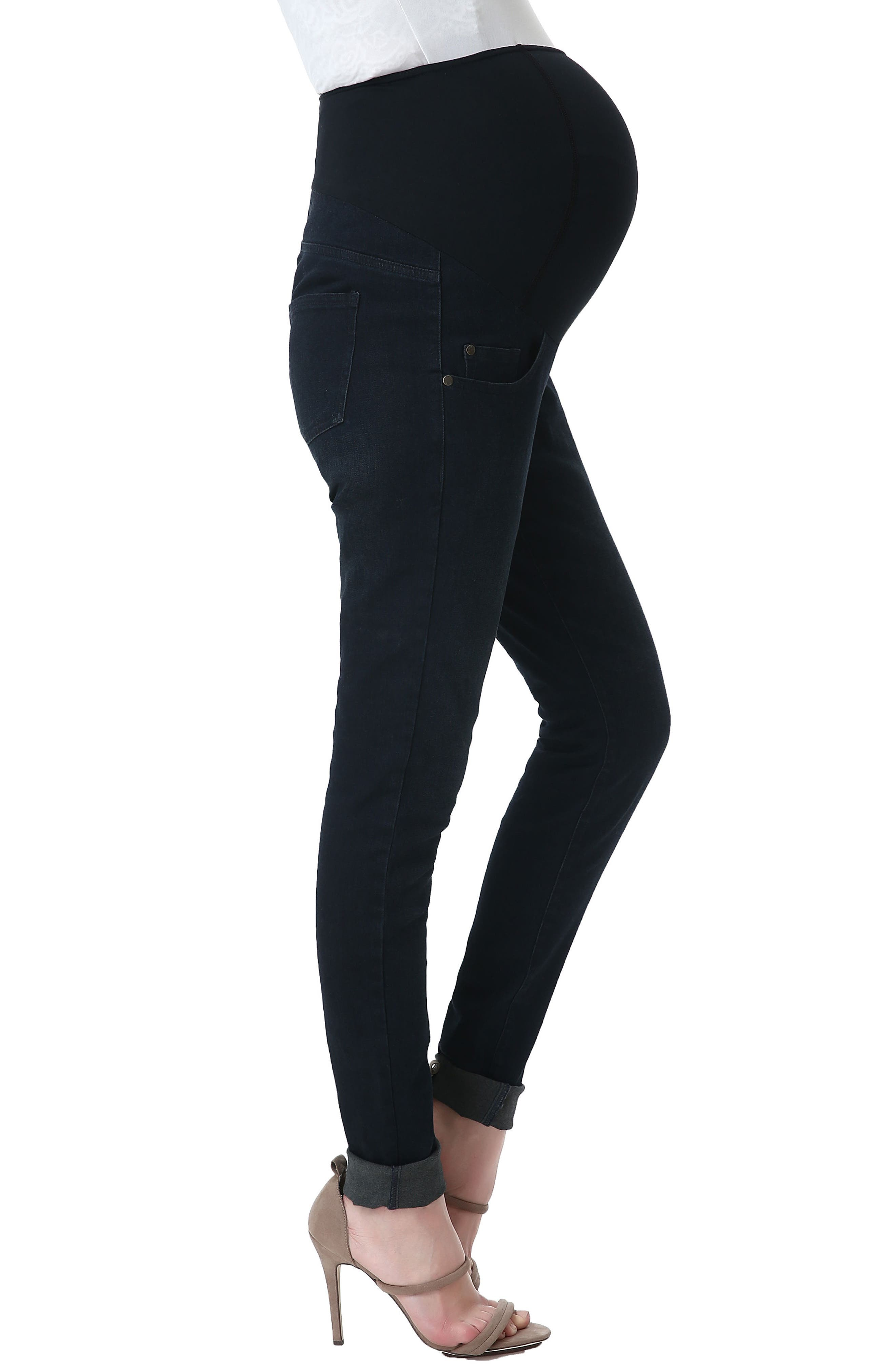 Alternate Image 6  - Kimi and Kai Rae Maternity Skinny Jeans