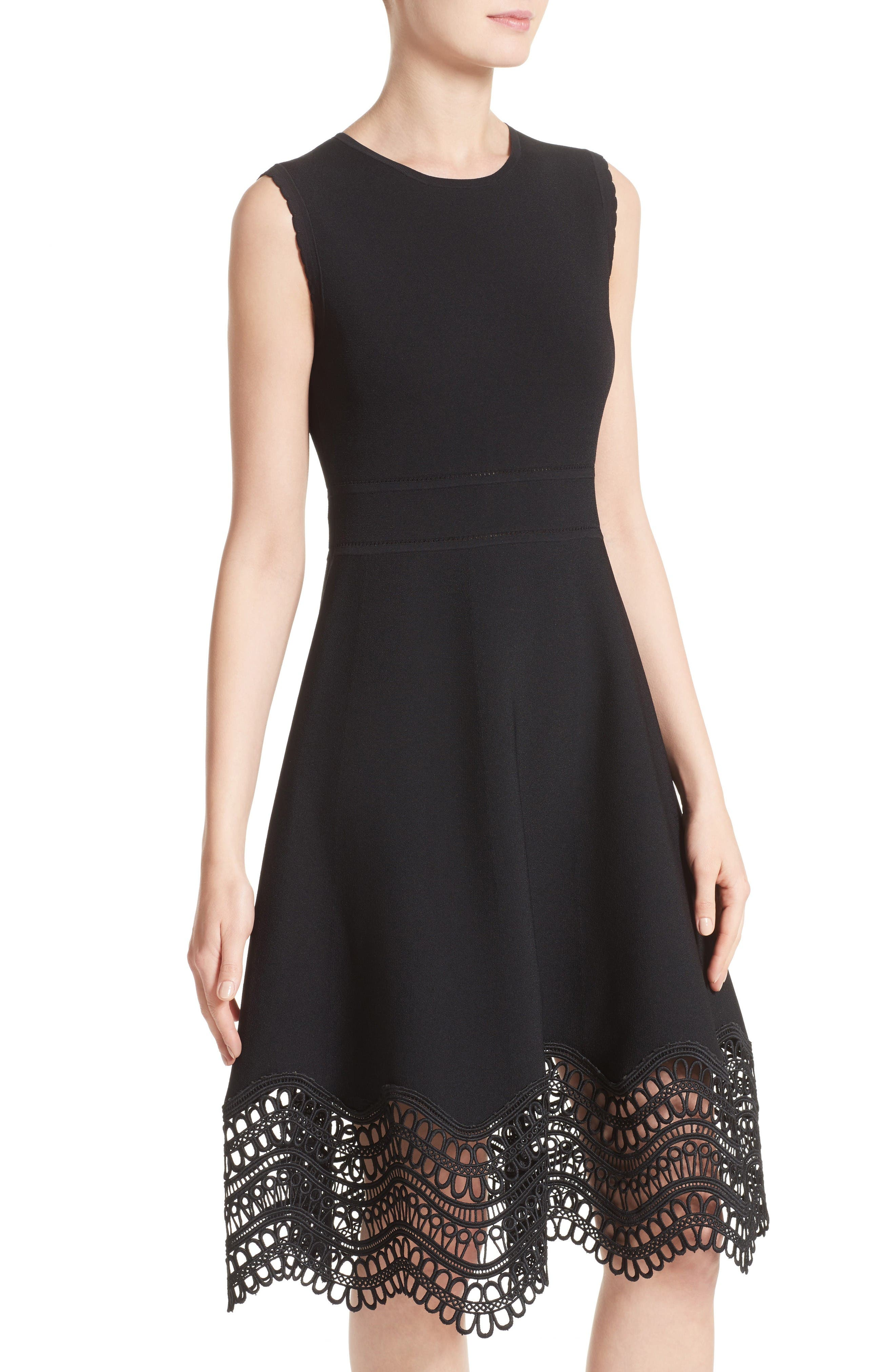 Alternate Image 6  - Lela Rose Lace Hem Dress