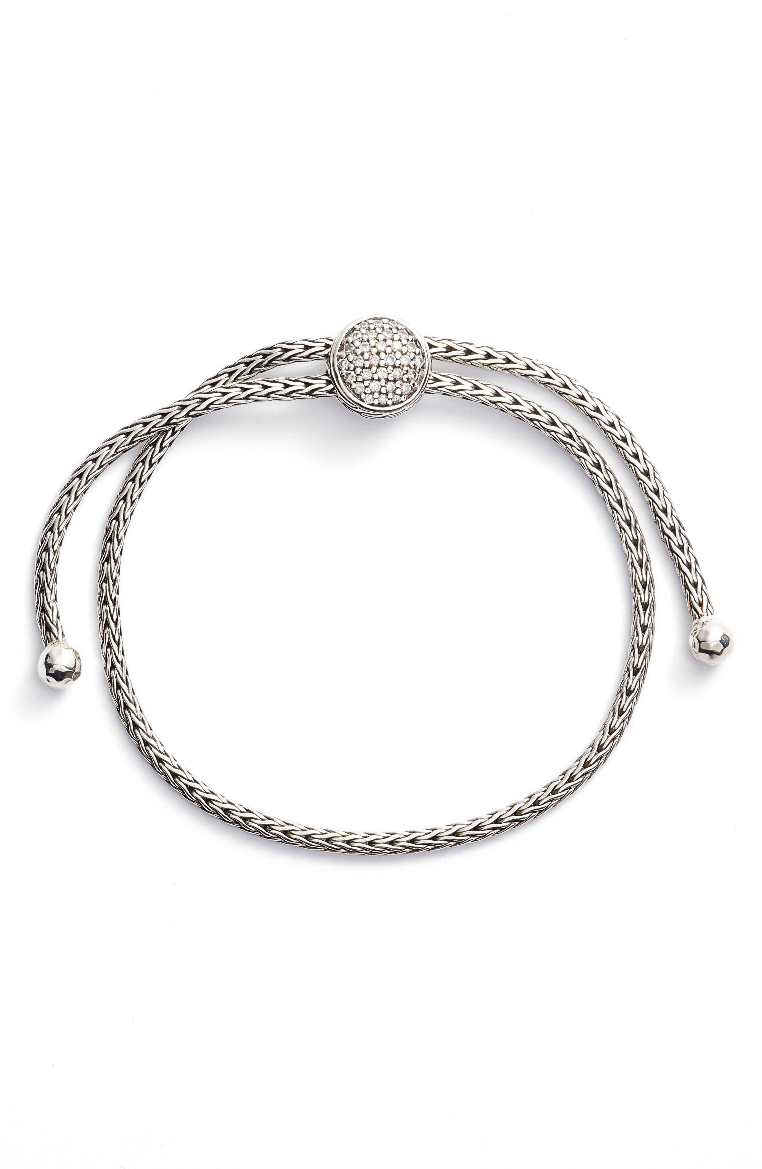 Classic Chain Diamond Pull Through Bracelet,                         Main,                         color, Diamond