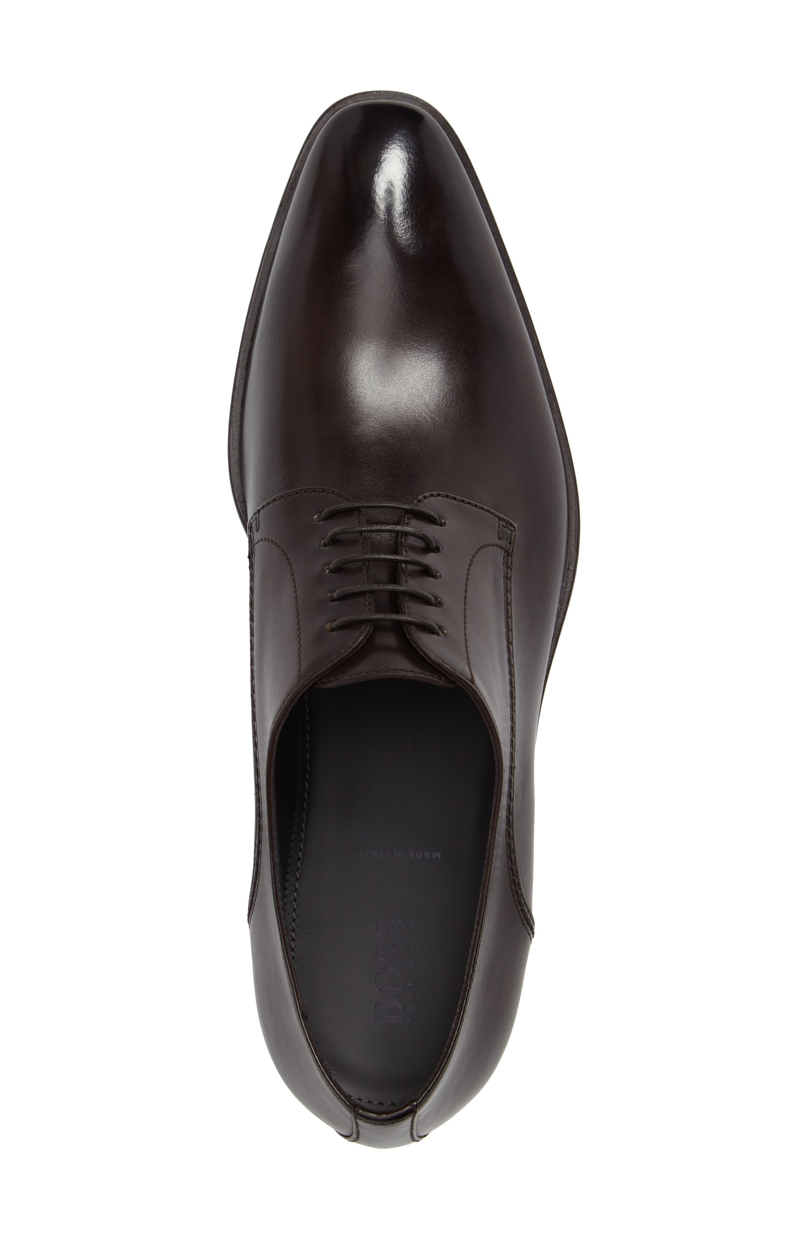 Carmons Plain Toe Derby,                             Alternate thumbnail 5, color,                             Dark Brown Leather