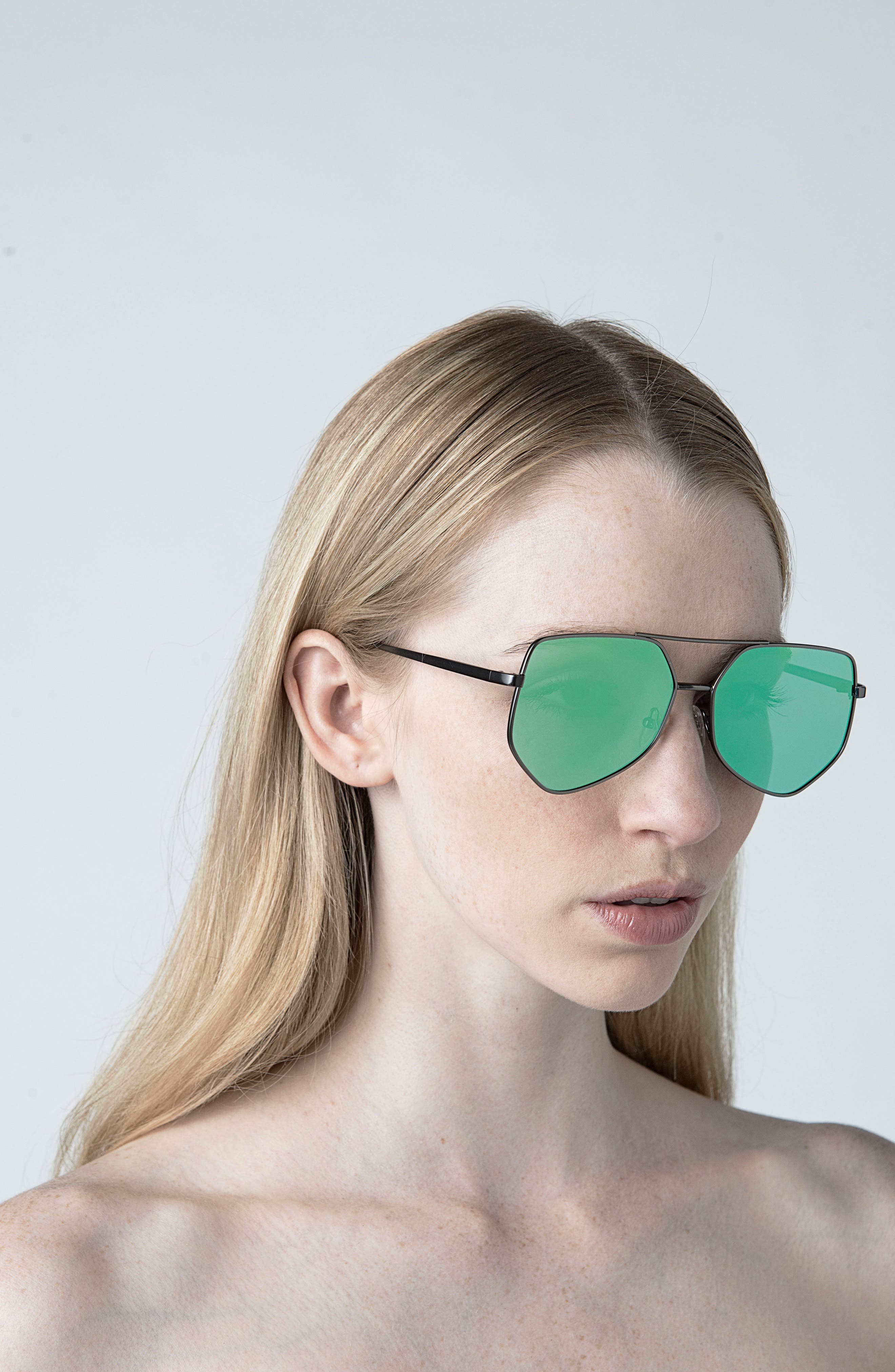 Figueroa 58mm Sunglasses,                             Alternate thumbnail 2, color,                             Money Green