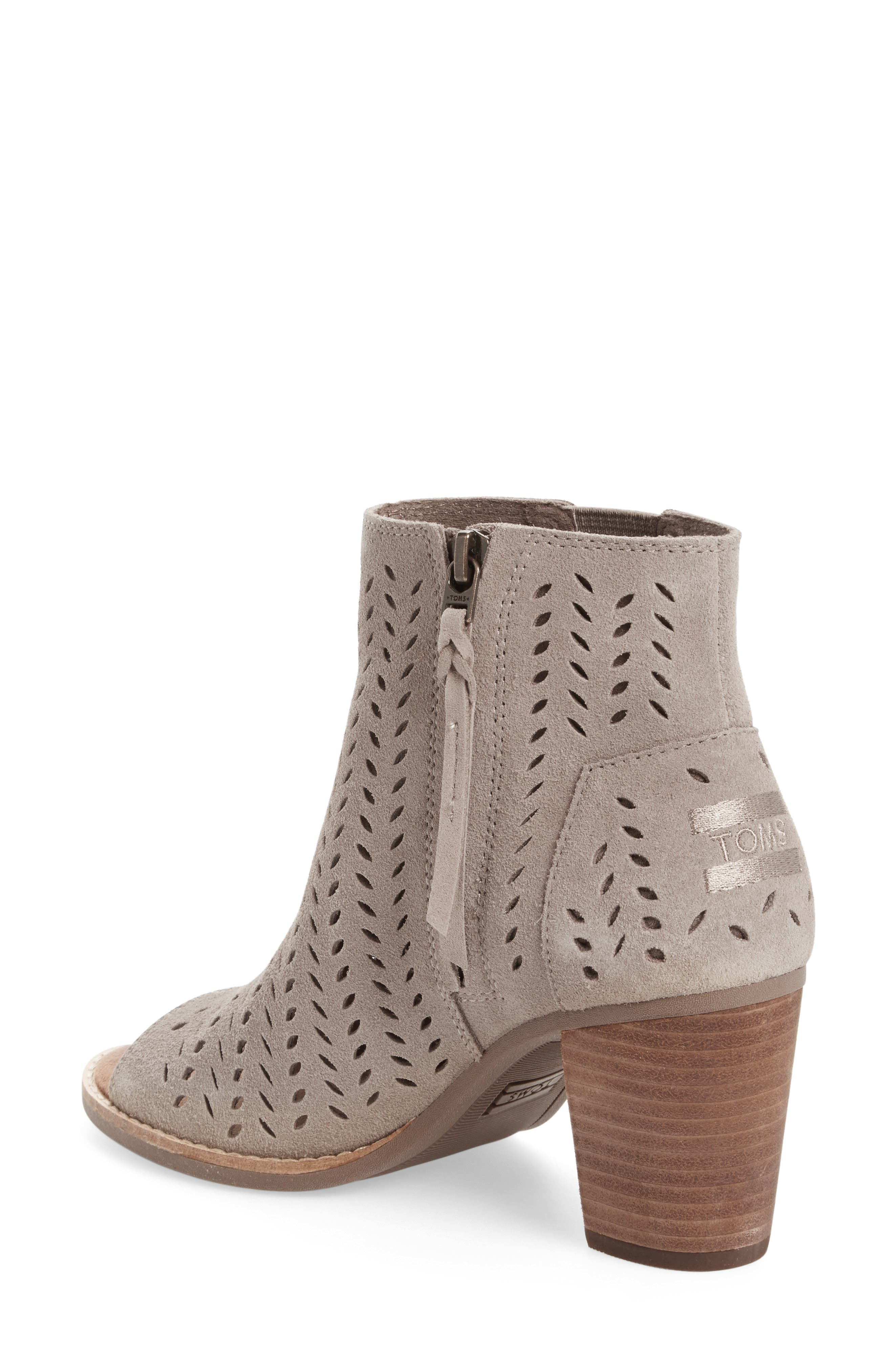 Alternate Image 2  - TOMS Majorca Perforated Suede Bootie (Women)