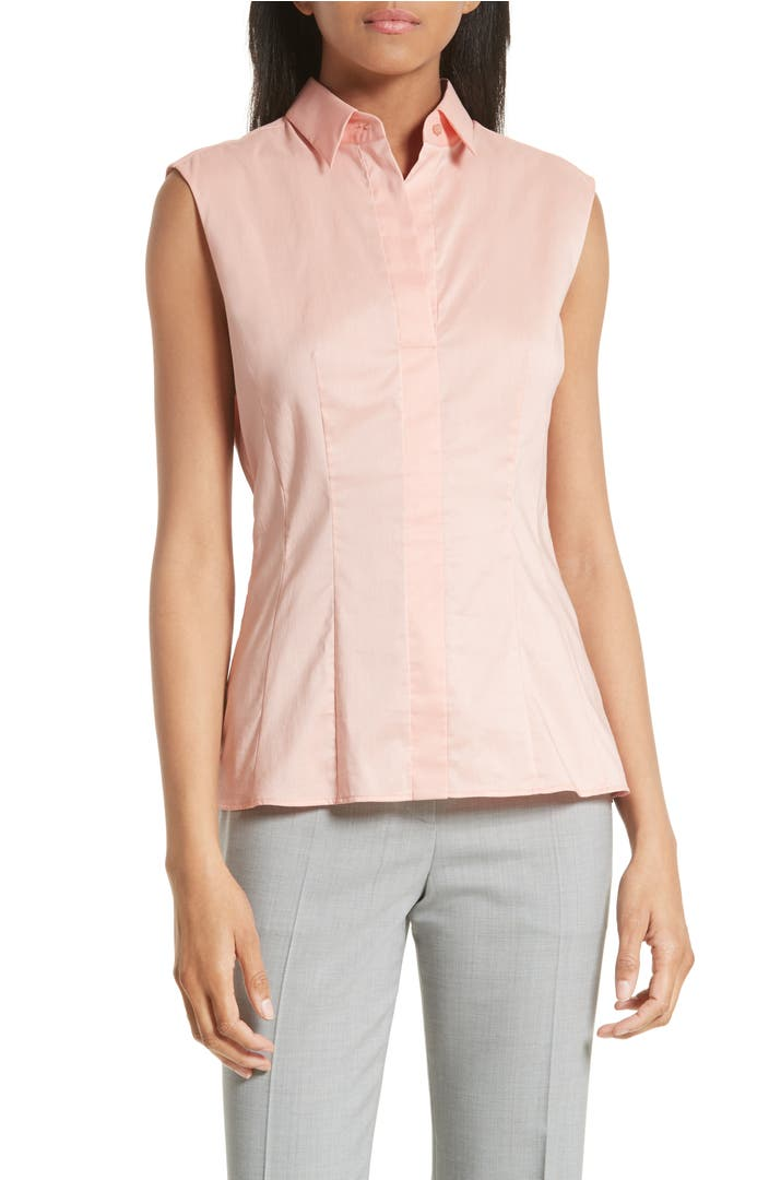 Boss Bashiva Stretch Poplin Shirt Regular Petite