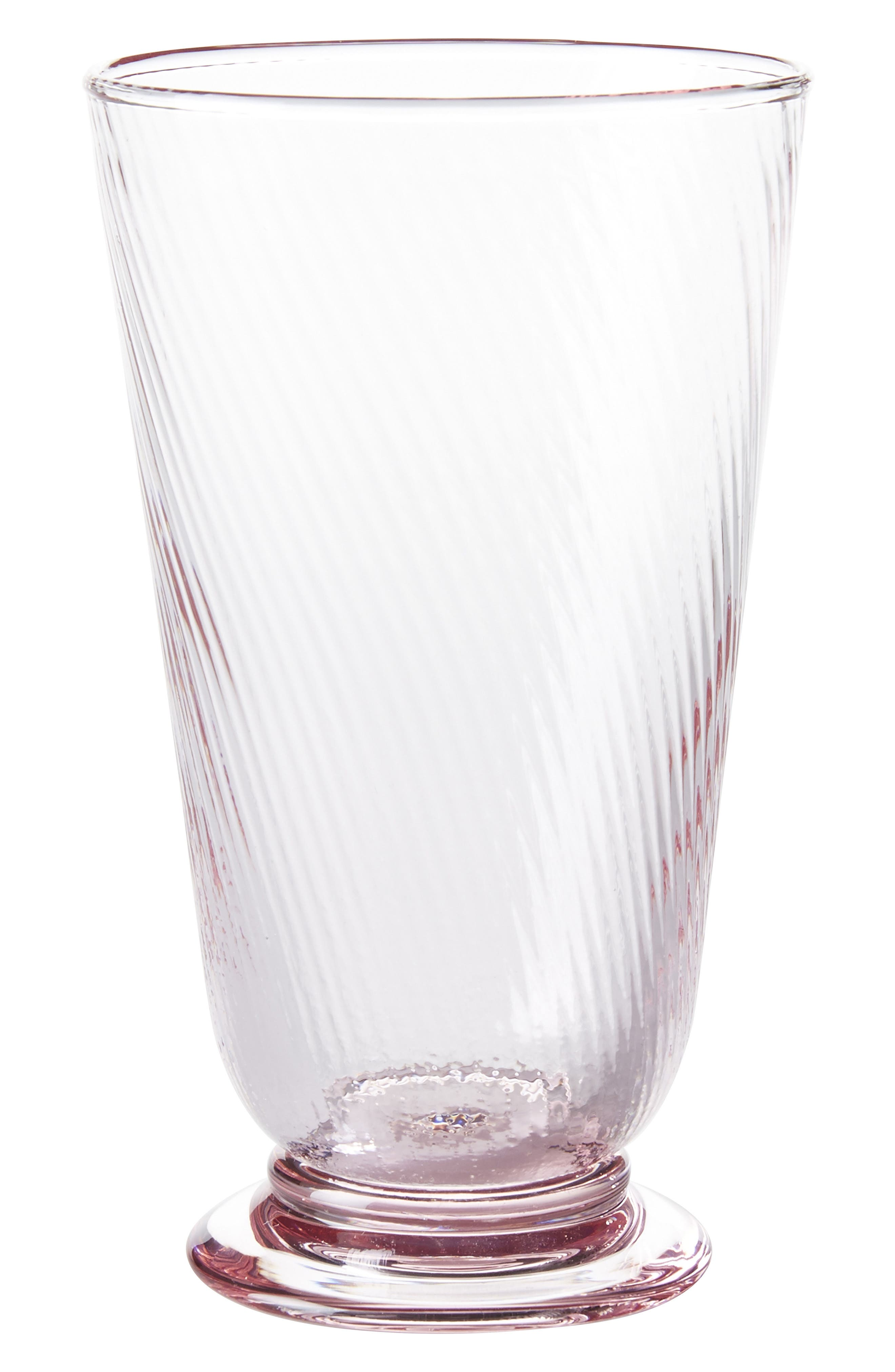 Arabella Pink Highball Glass,                             Main thumbnail 1, color,                             Petal Pink