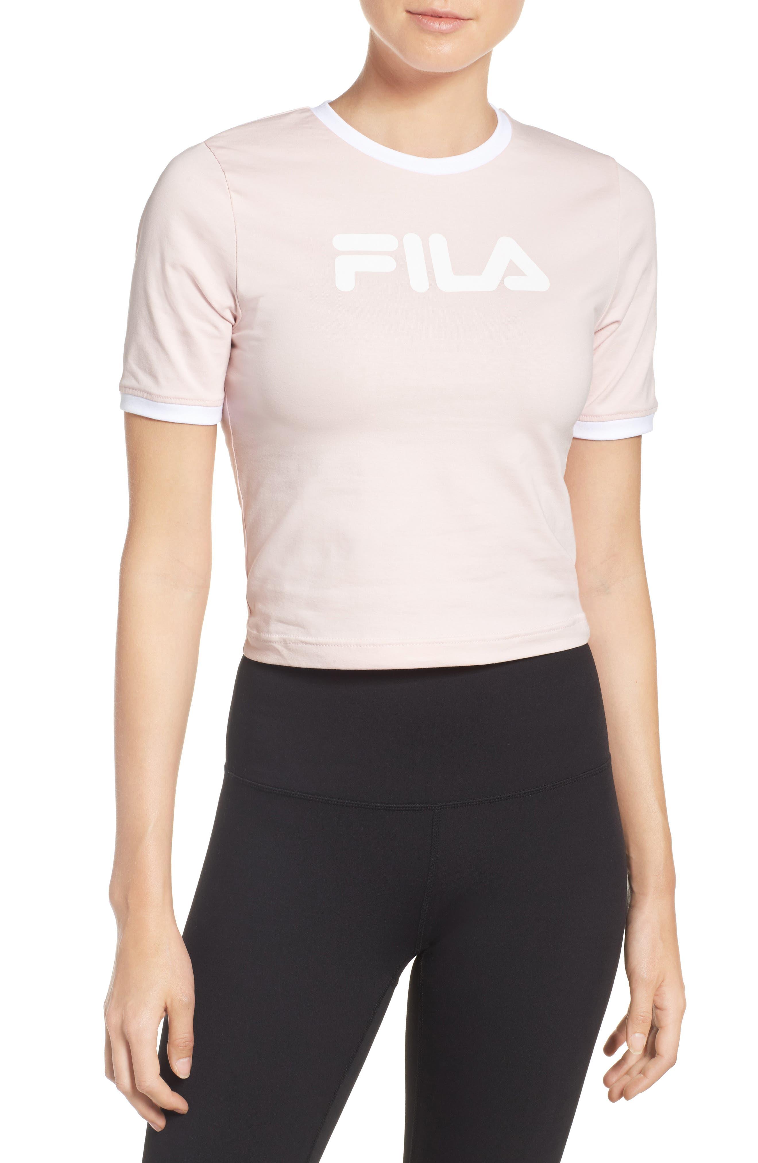 FILA Tionne Logo Crop Tee