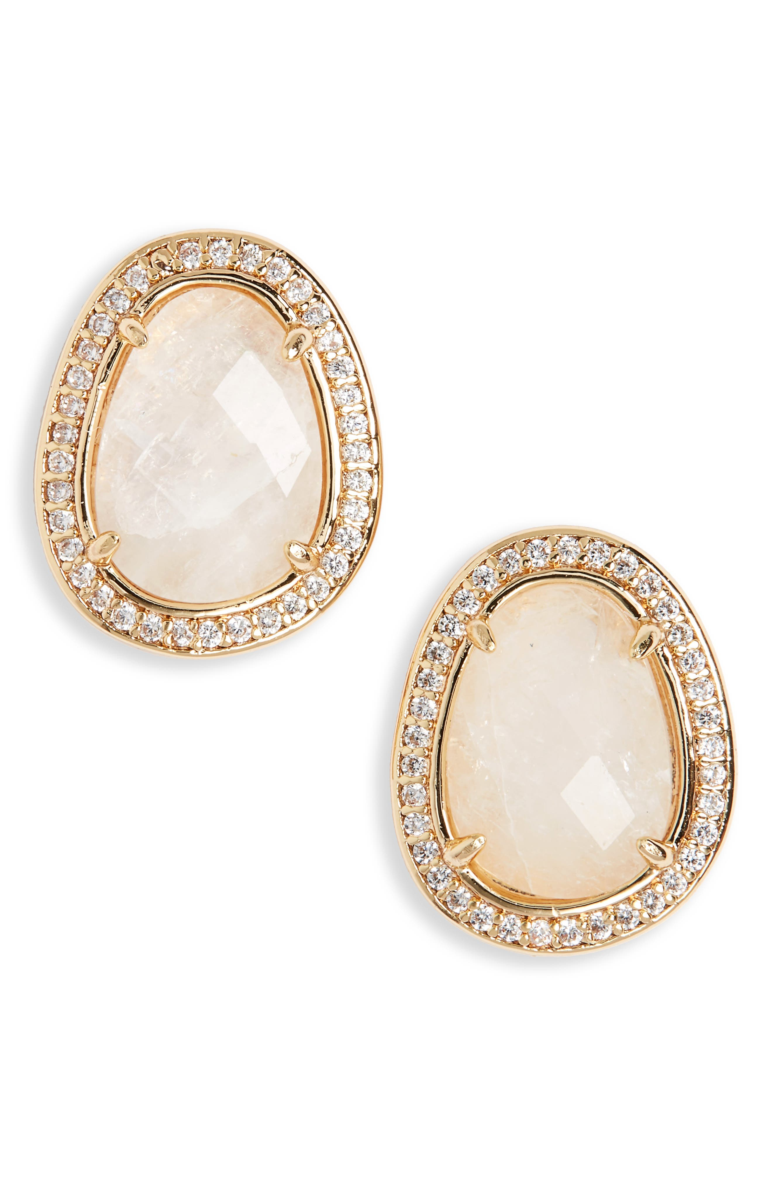 MELANIE AULD Semiprecious Stone Stud Earrings