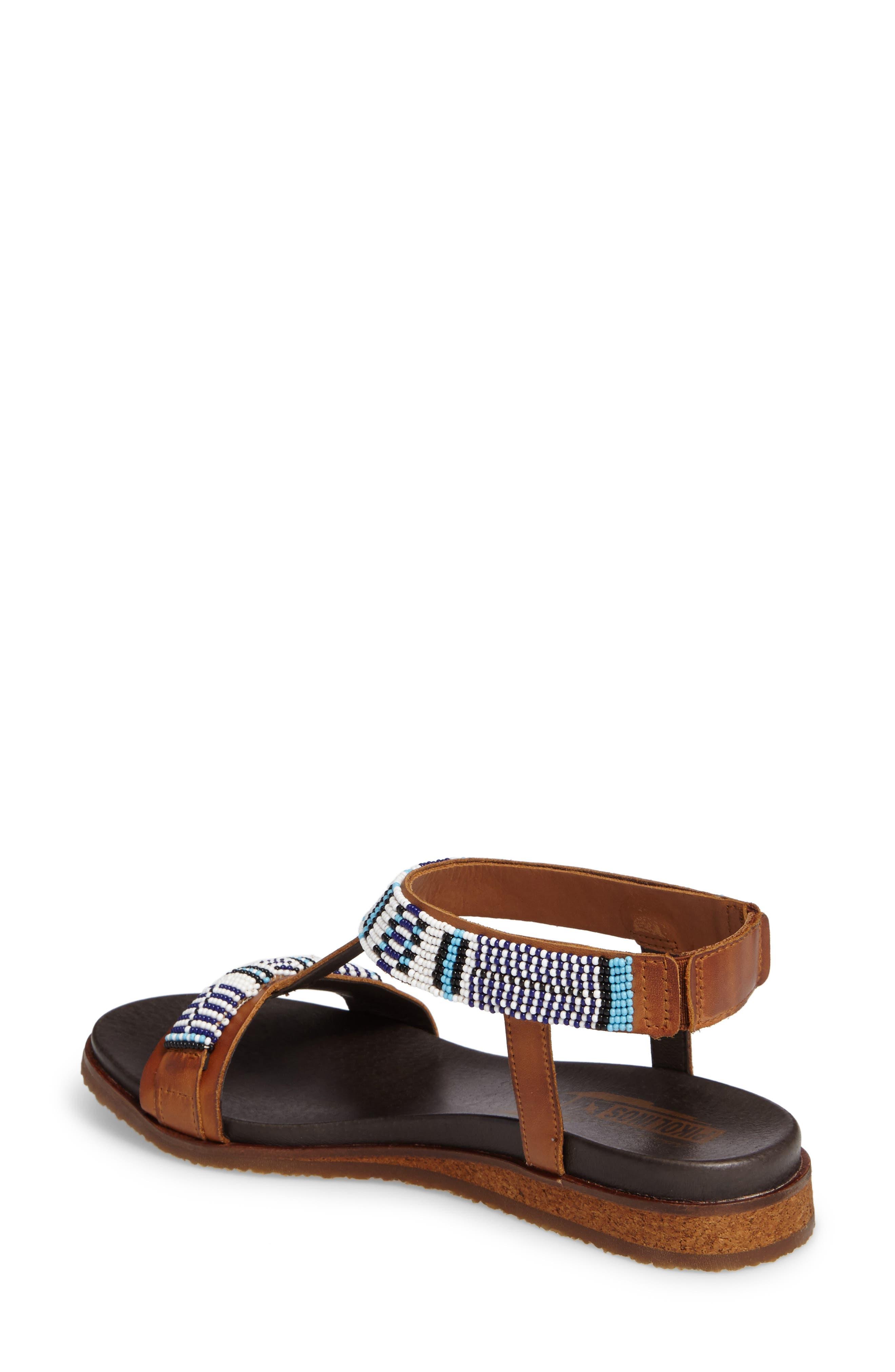 Antillas Beaded Sandal,                             Alternate thumbnail 2, color,                             Brandy Leather