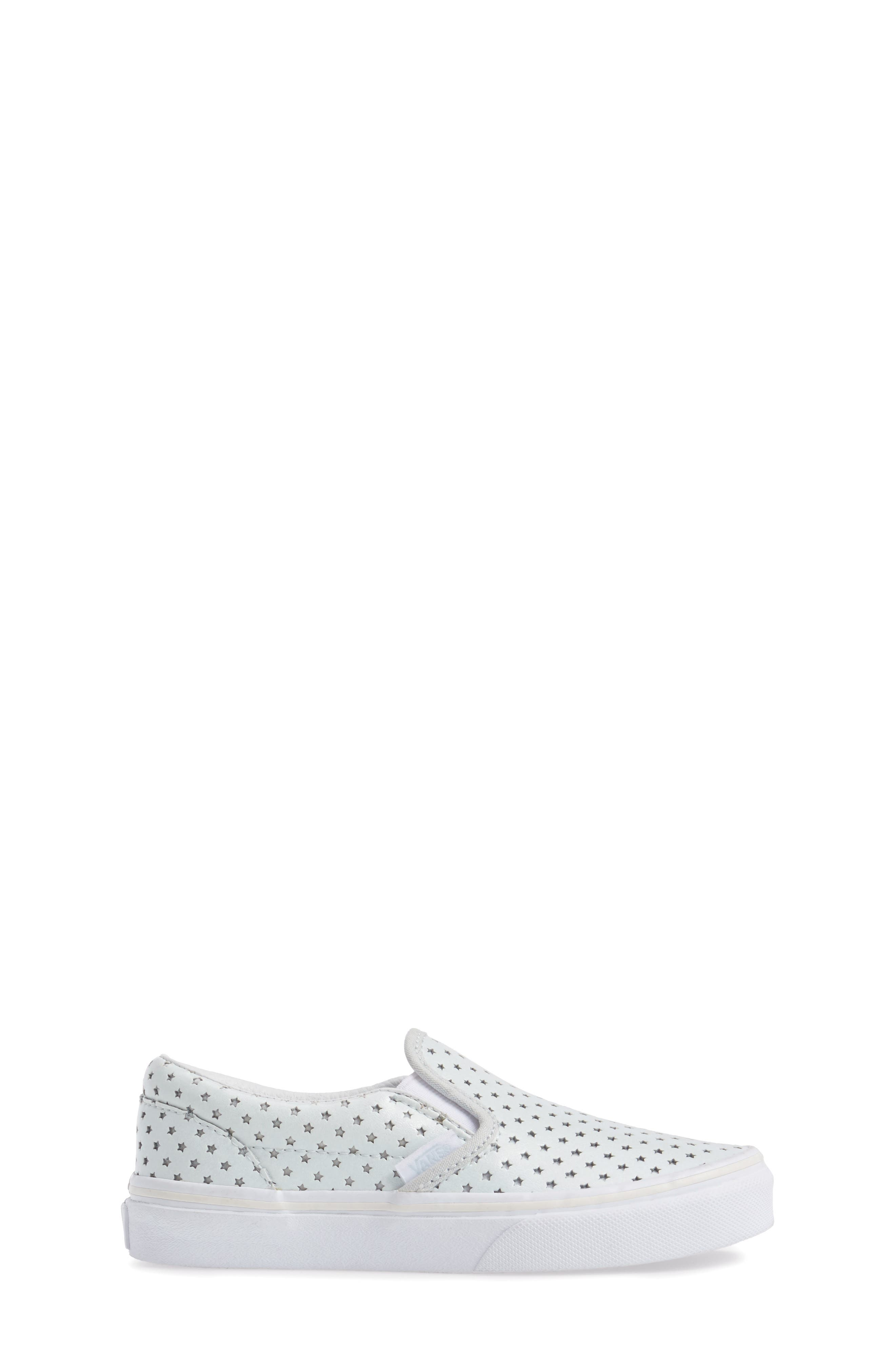 Classic Perforated Slip-On Sneaker,                             Alternate thumbnail 3, color,                             Stars Pearlized Leather