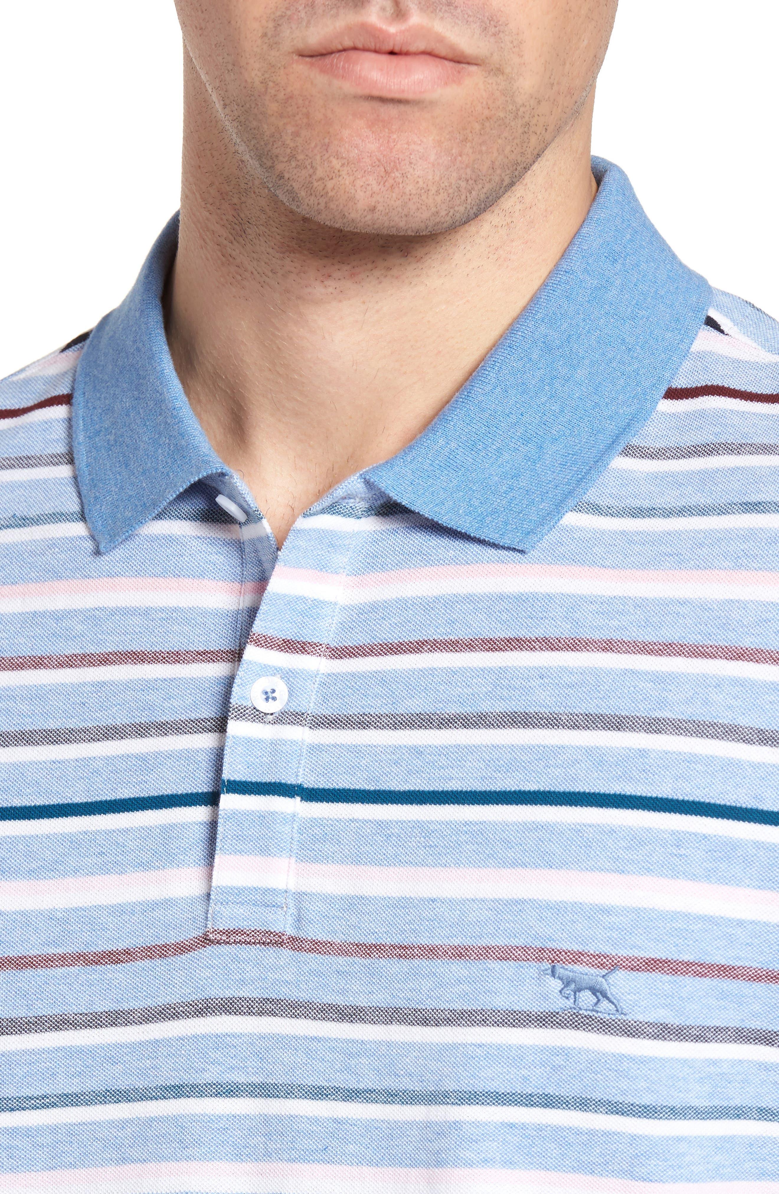 Gowan Hill Sports Fit Cotton Polo,                             Alternate thumbnail 4, color,                             Stonewash