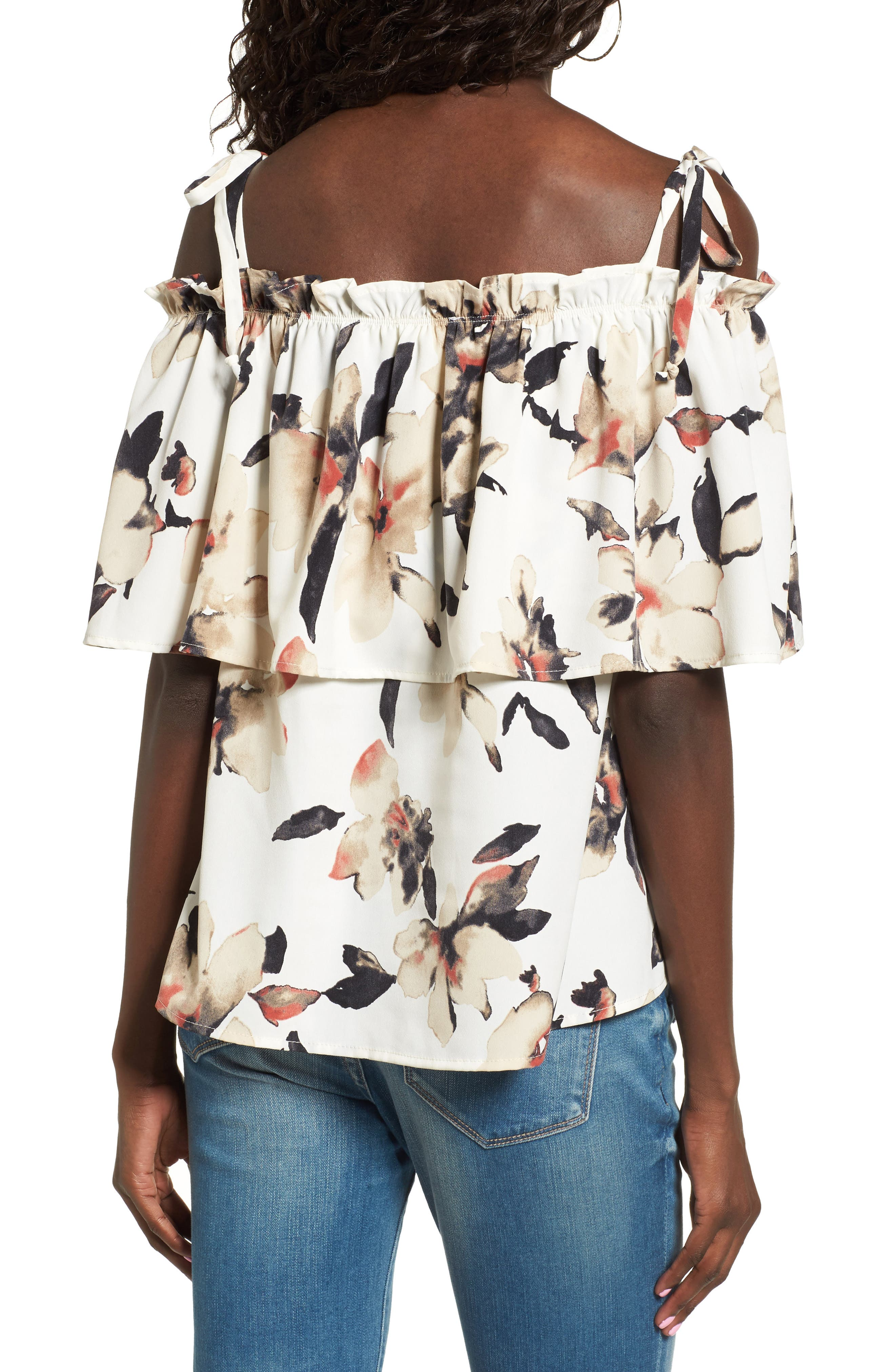 Alternate Image 2  - Leith Off the Shoulder Floral Top