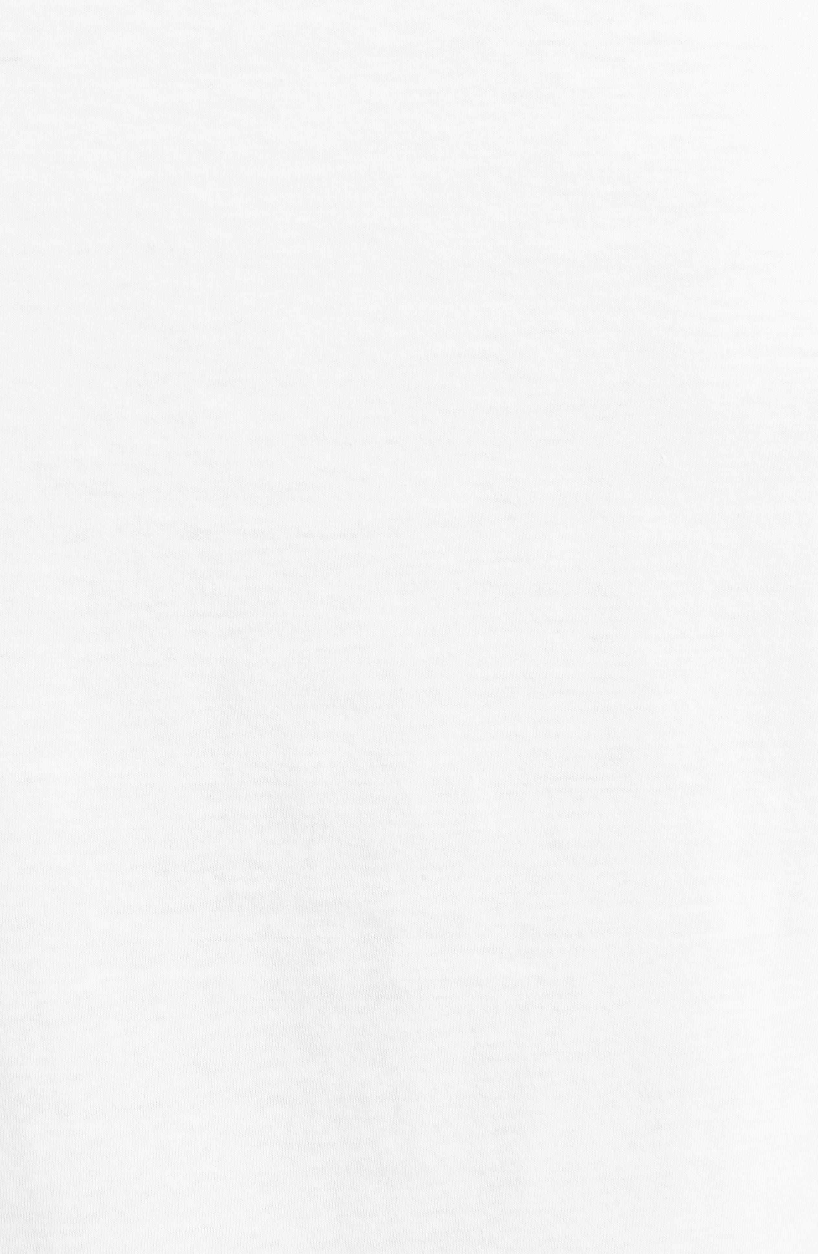 Hologram Stripe T-Shirt,                             Alternate thumbnail 5, color,                             White