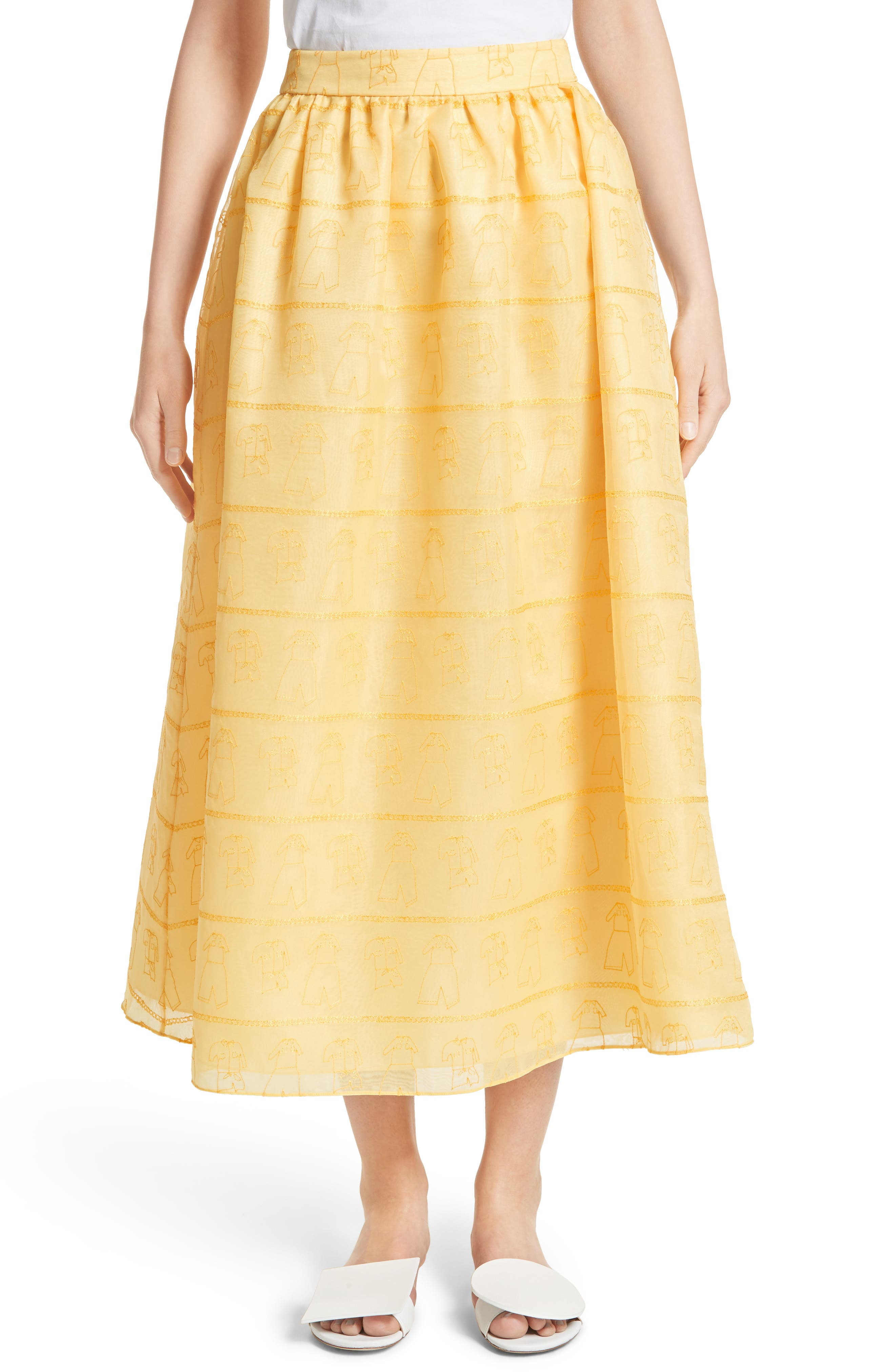 Shrimps Iris Embroidered Skirt (Nordstrom Exclusive)