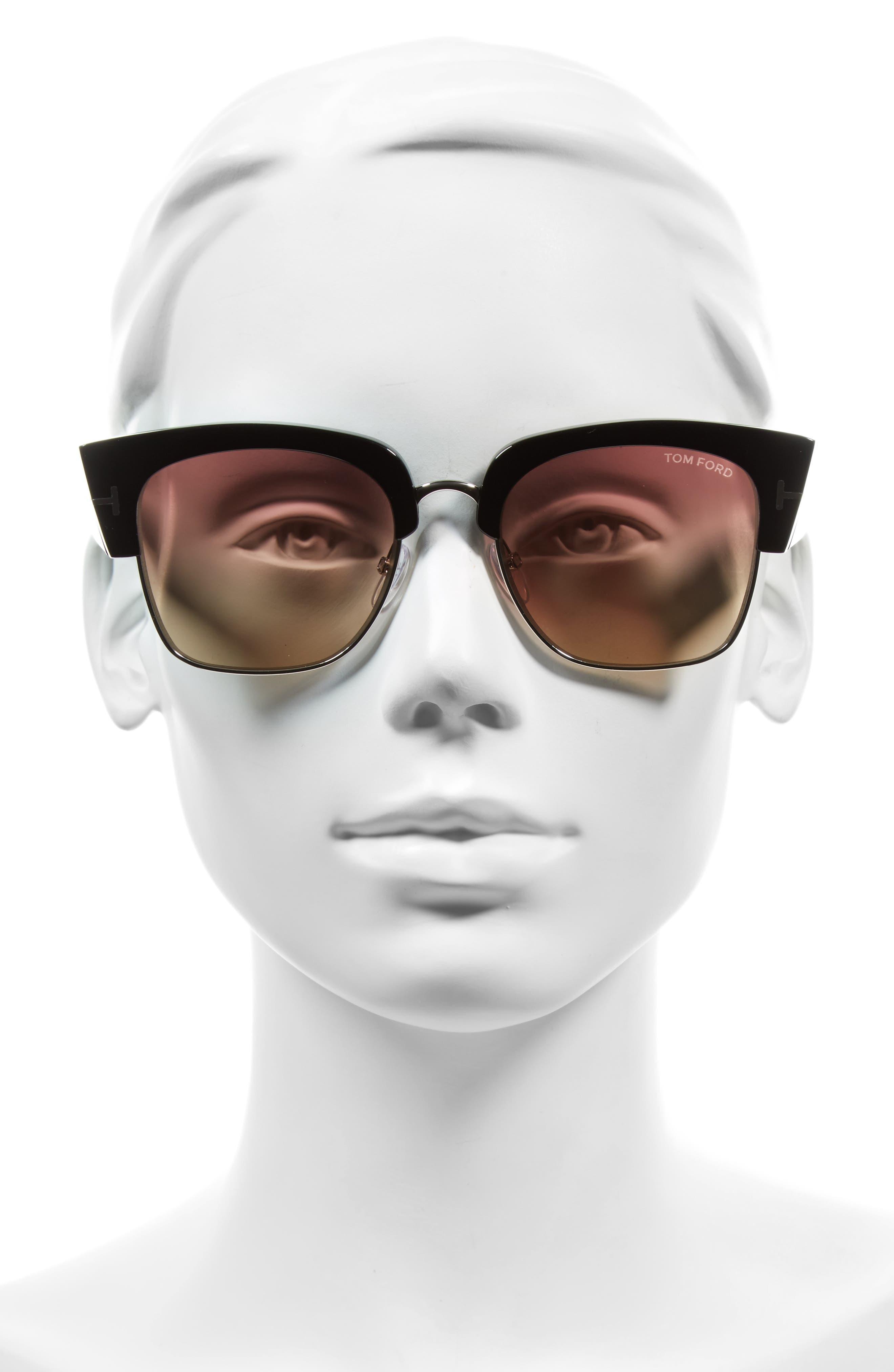 Alternate Image 2  - Tom Ford Dakota 55mm Gradient Square Sunglasses